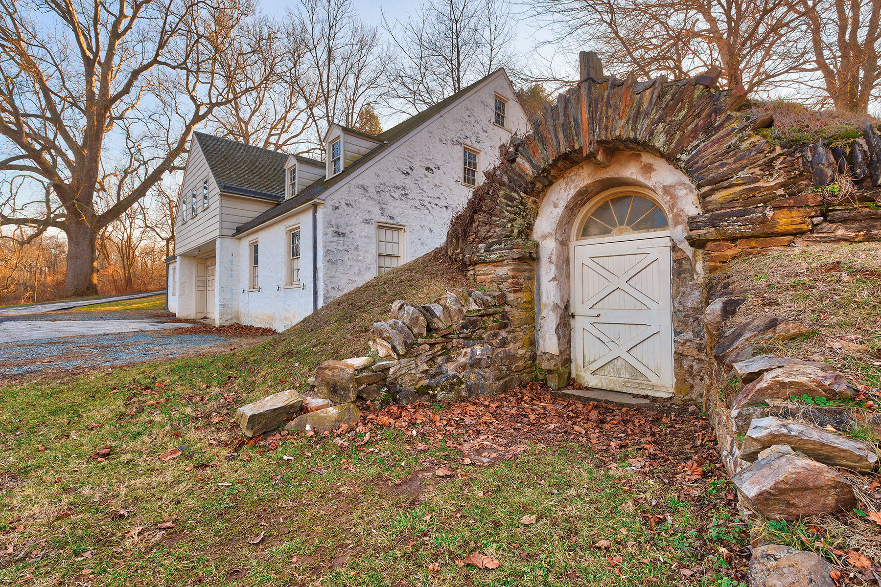 Rustic valley forge architecture - hdr photo