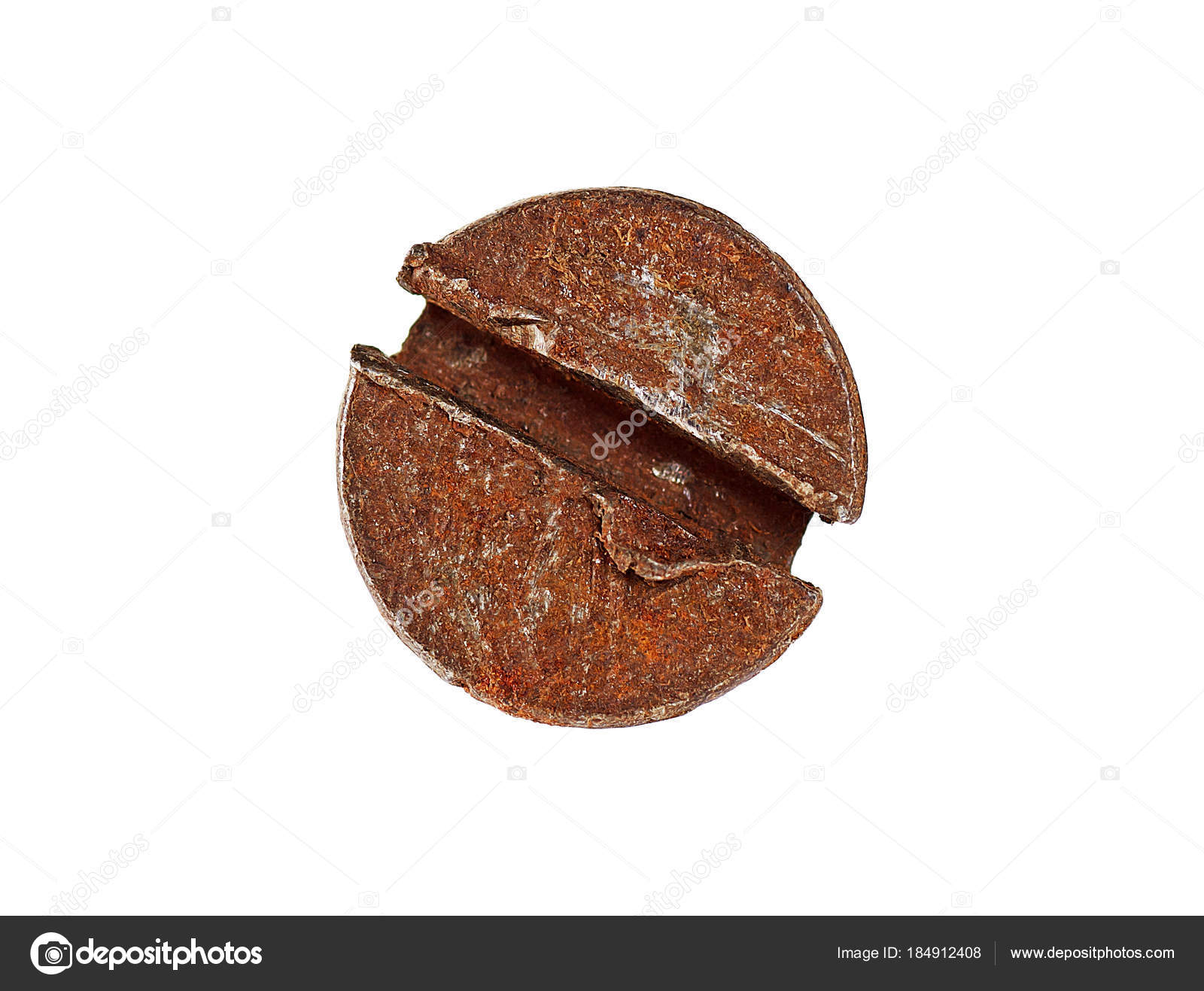 Close up of rusty screw head on white background — Stock Photo ...