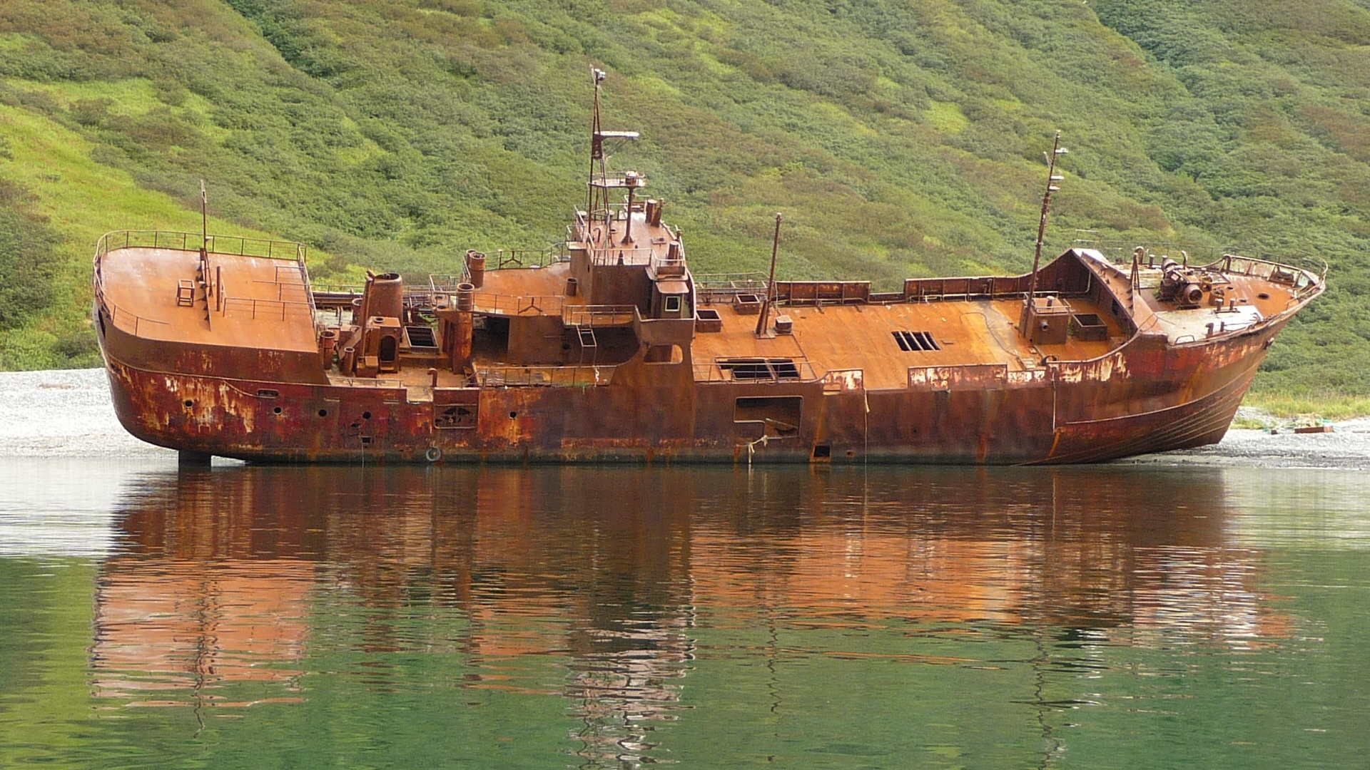 Free Images : sea, boat, vehicle, broken, abandoned, cargo ship ...
