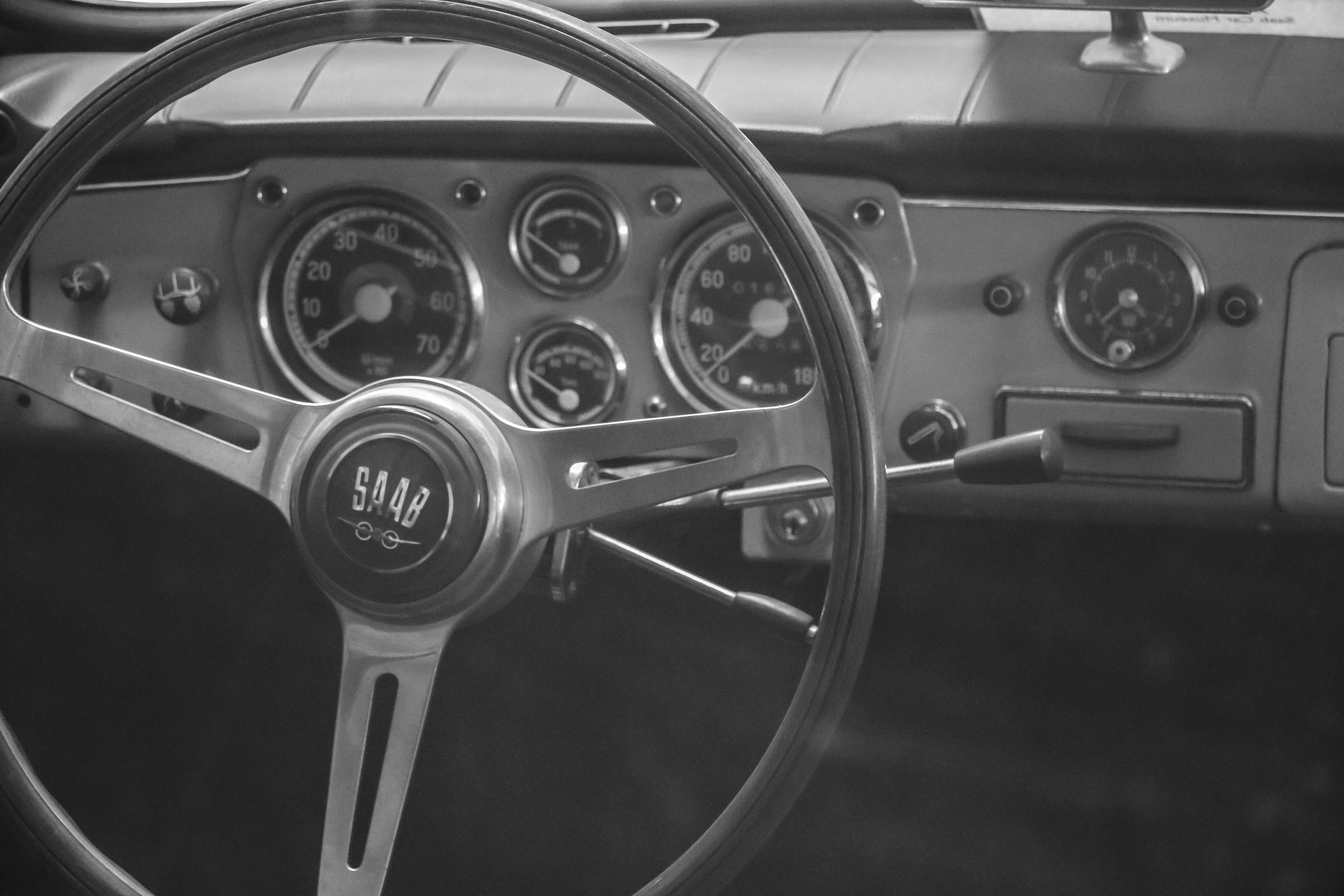 Saab salon, Old, Wheel, Theme, Steering, HQ Photo