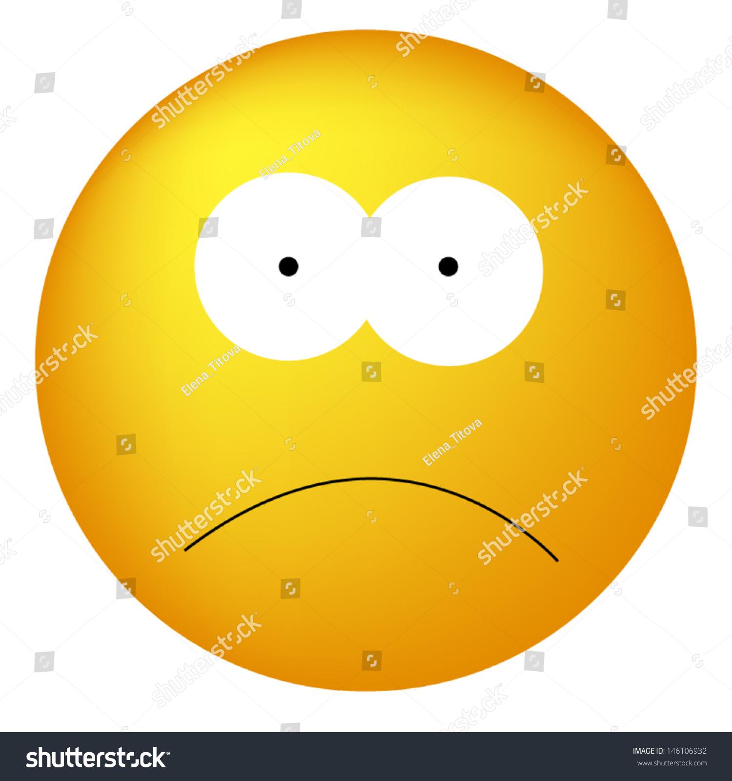 Sad Smiley Face Stock Vector 146106932 - Shutterstock