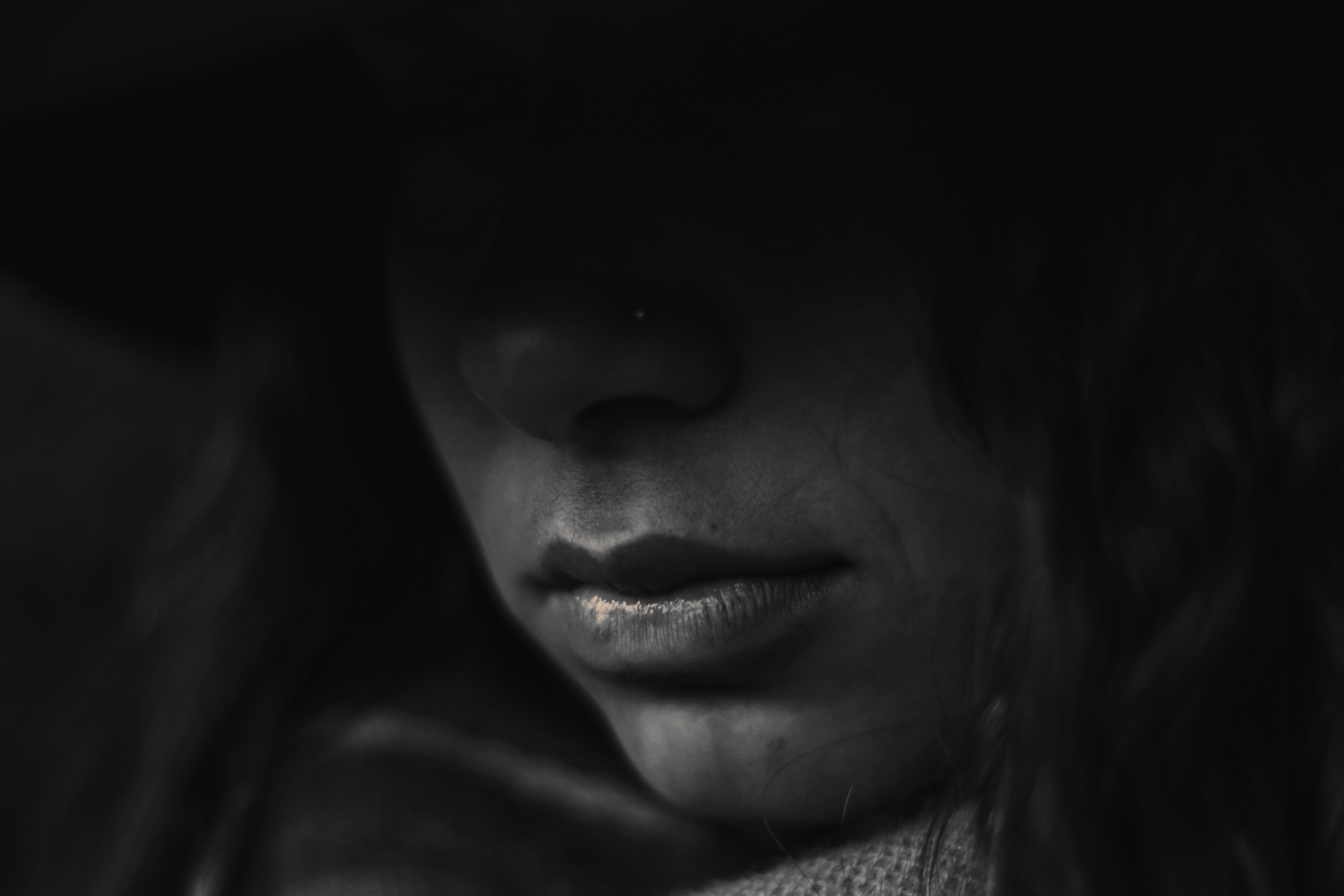 Sadness, Black, Depressed, Face, Features, HQ Photo