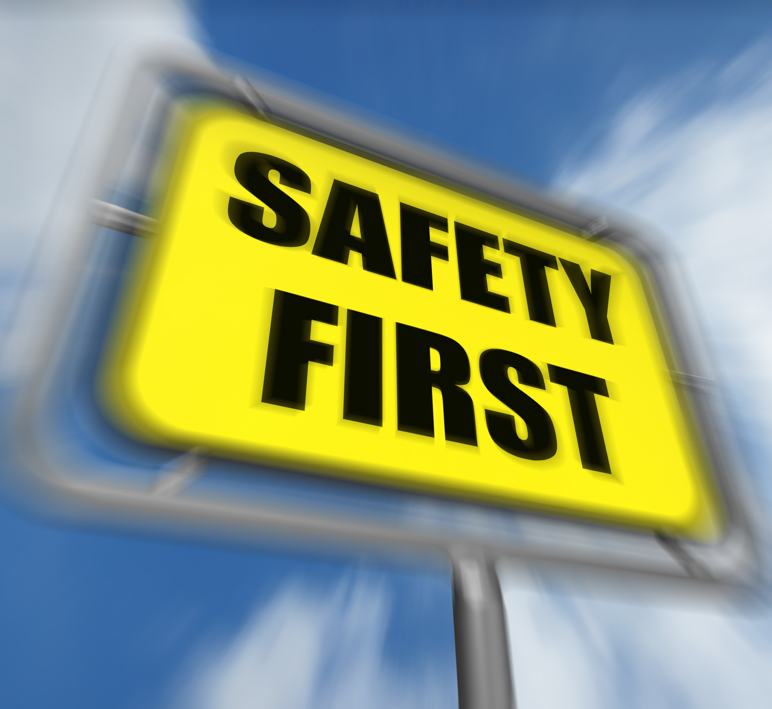 Safety First Sign Displays Prevention Preparedness and Security, Attention, Prevention, Security, Secure, HQ Photo