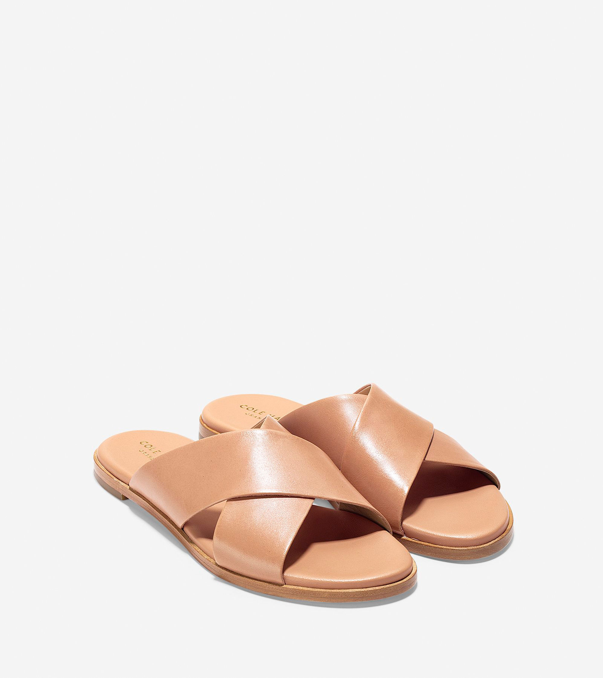 Anica Criss Cross Sandals in Sahara Leather | Cole Haan