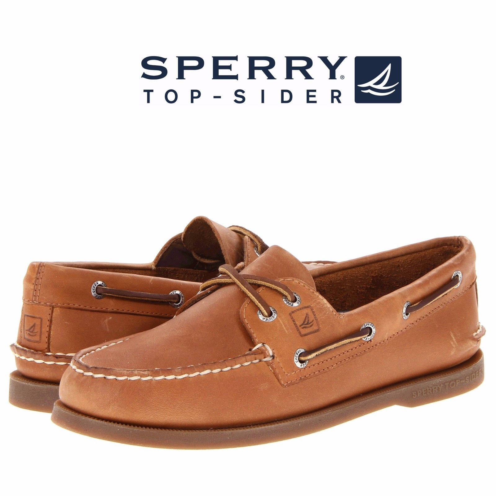 Men's Sperry Top-Sider Original A/O 2-Eye Boat Shoes Sahara Leather ...