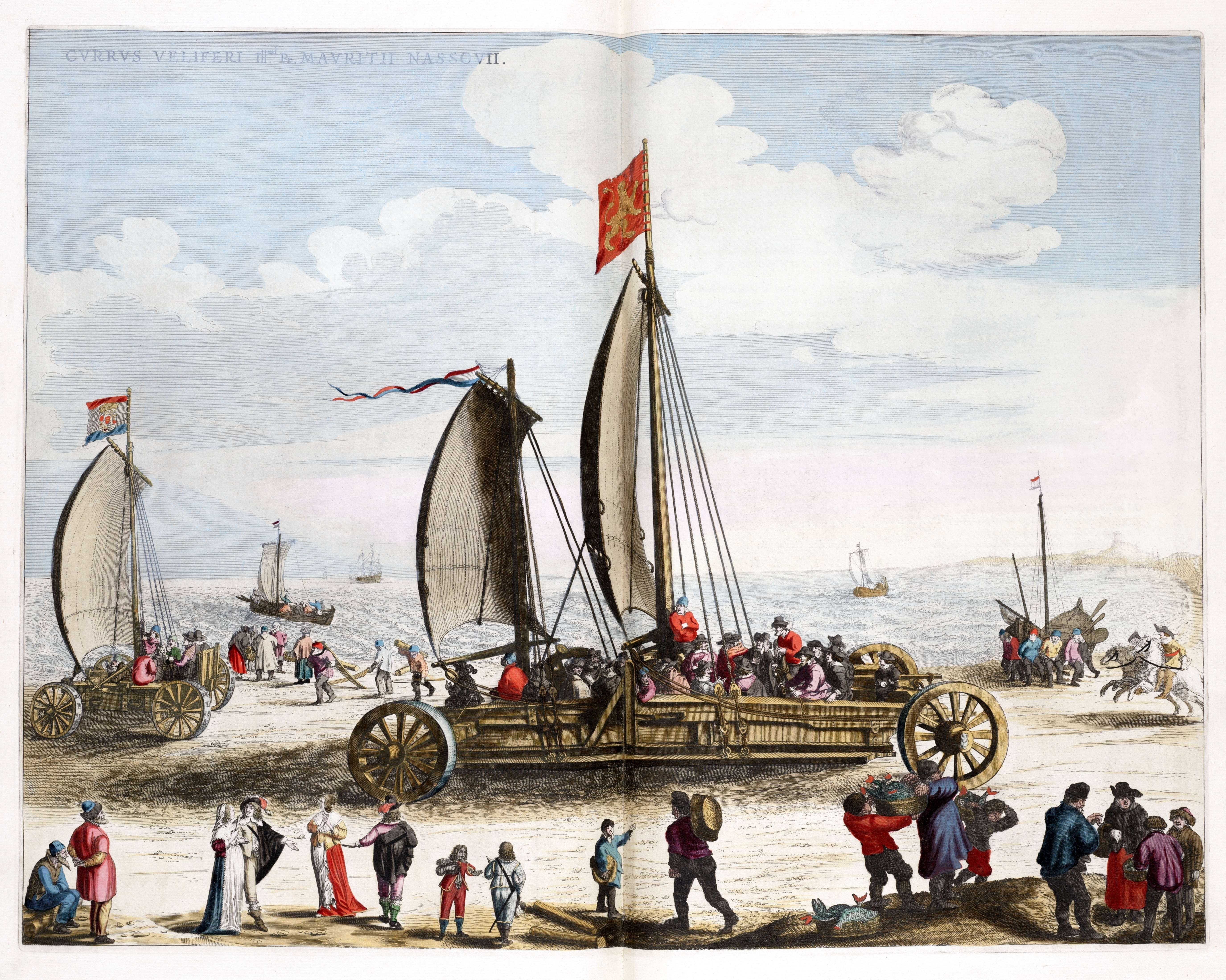 File:Simon Stevins zeilwagen voor Prins Maurits 1649.jpg - Wikimedia ...
