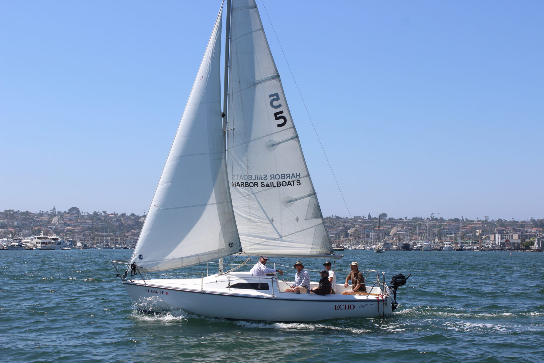 San Diego Sailboat Rentals - Bareboat Charters at Harbor Island ...