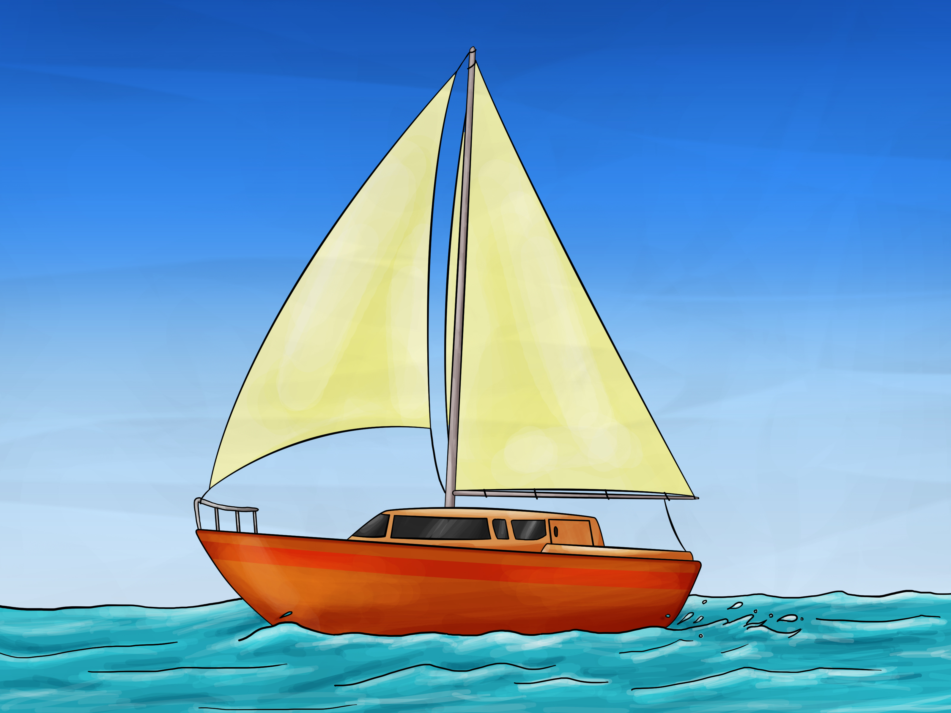 How to Draw a Sailboat: 7 Steps (with Pictures) - wikiHow
