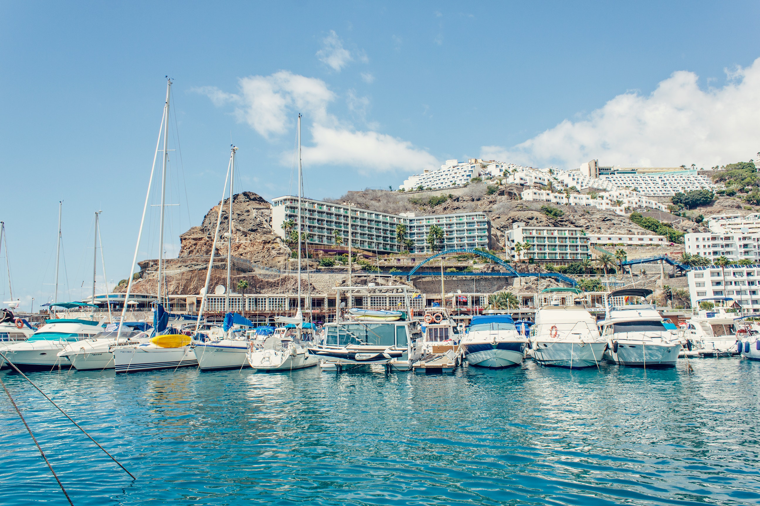 Sailboats Moored in Sea, Bay, Port, Waterfront, Watercrafts, HQ Photo