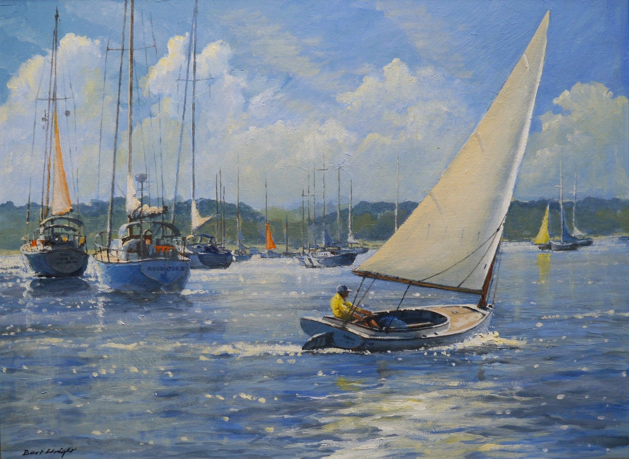 Perfect Sailing by Bert Wright Copyright remains with the artist ...