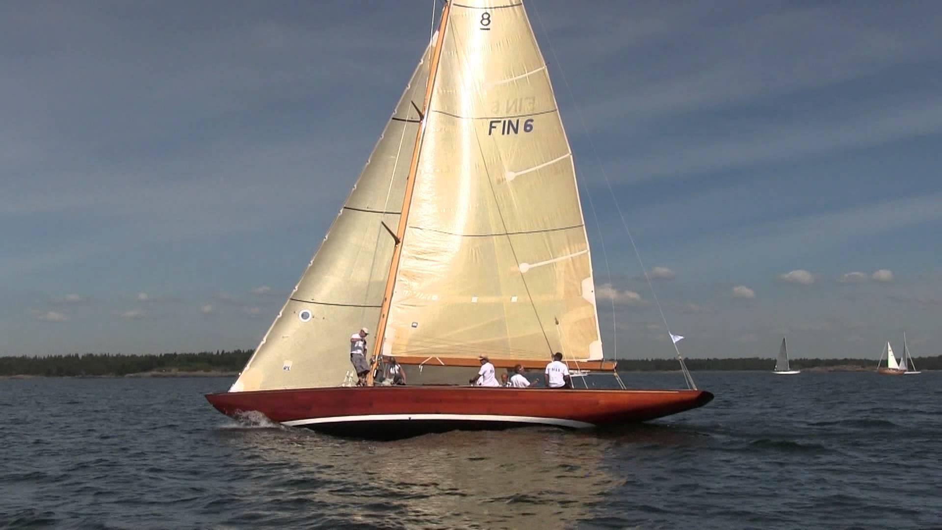 Helsinki Classic Yacht Week - classic sailing boats racing - YouTube