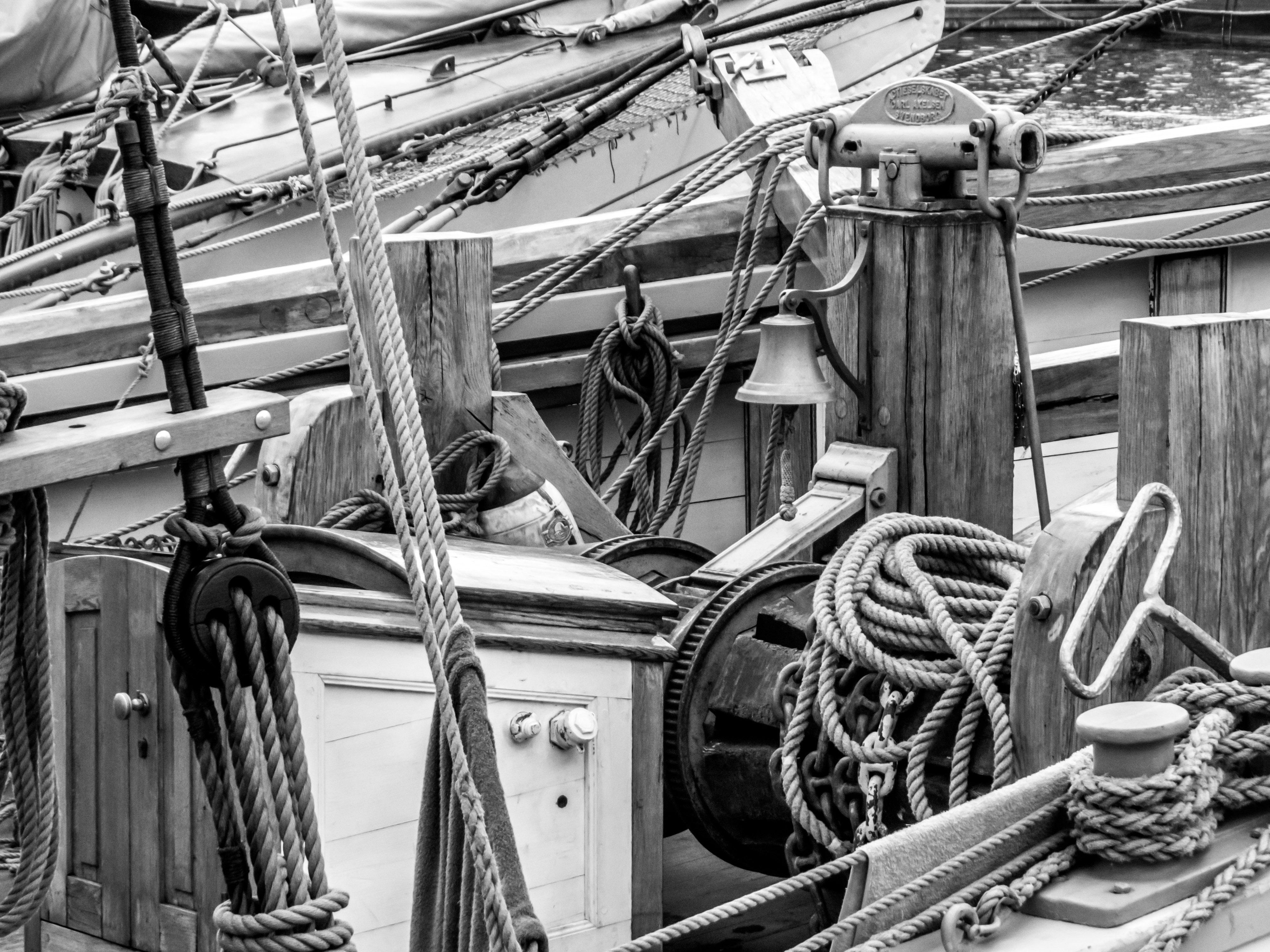 Sailing ship's winch, 2013, Sail, White, Vessel, HQ Photo