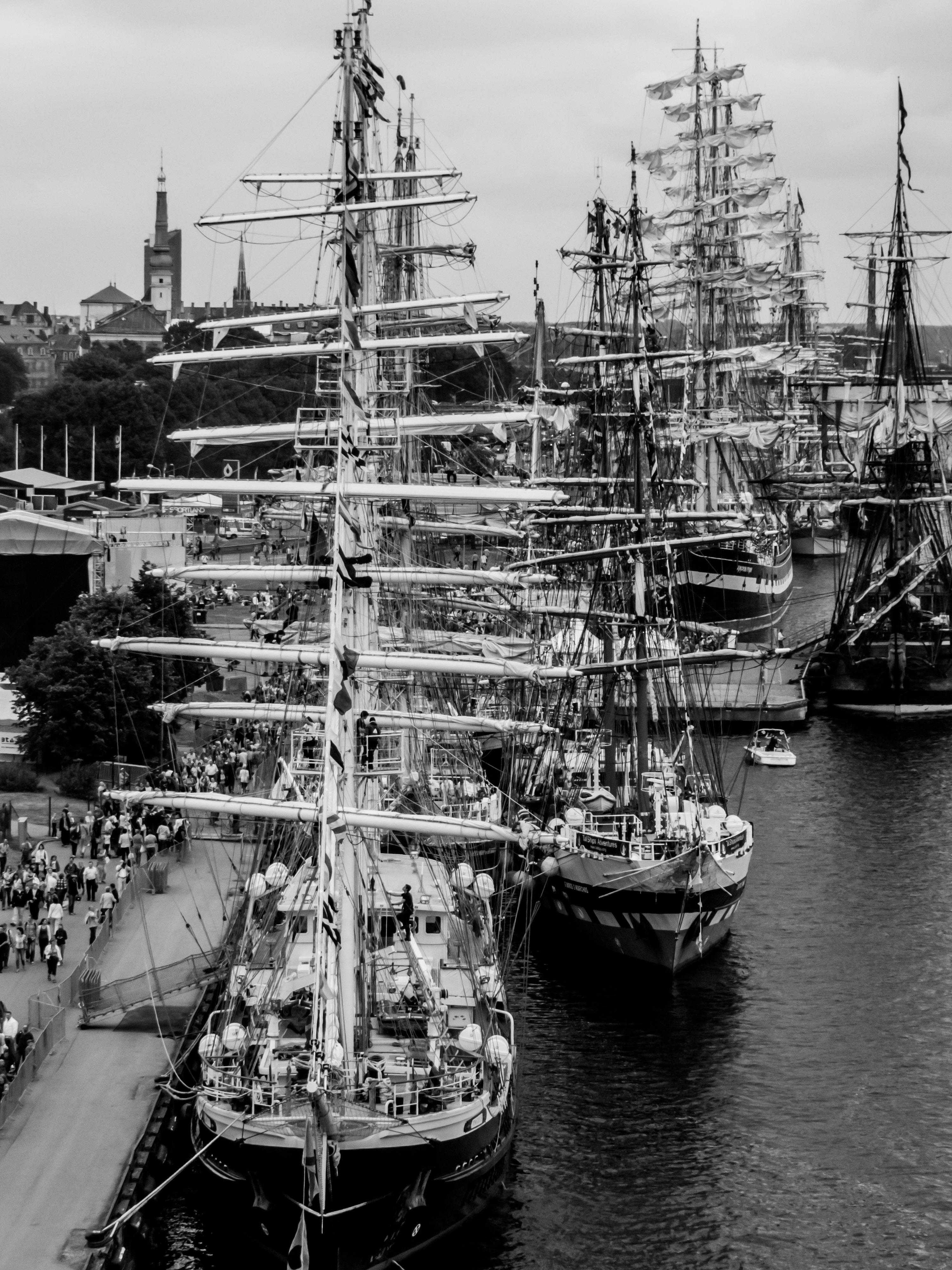 Sailing ships masts, 2013, River, Vessel, Theme, HQ Photo