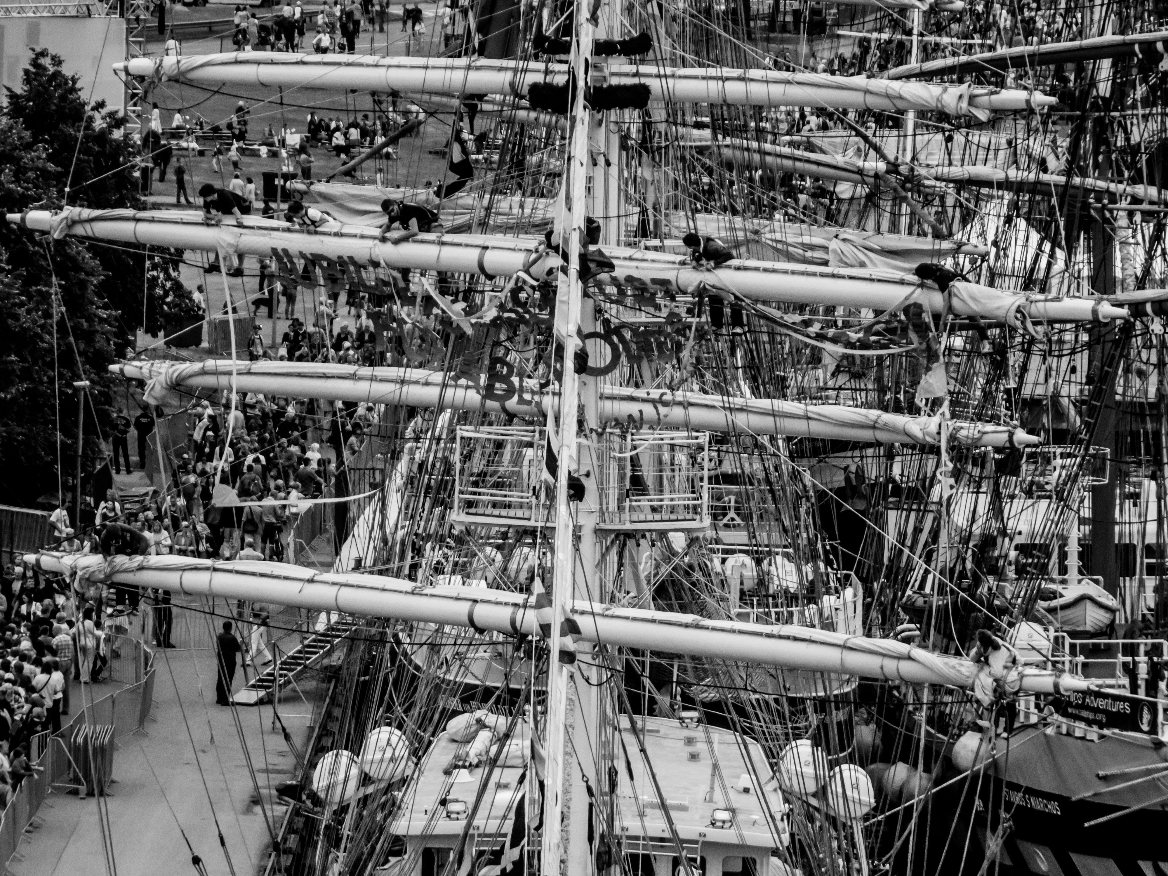 Sailing ships masts photo