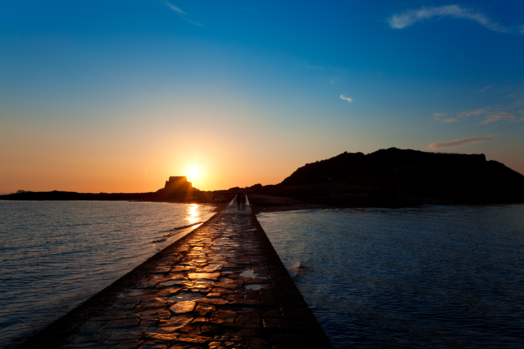 Saint-malo sunset scenery photo