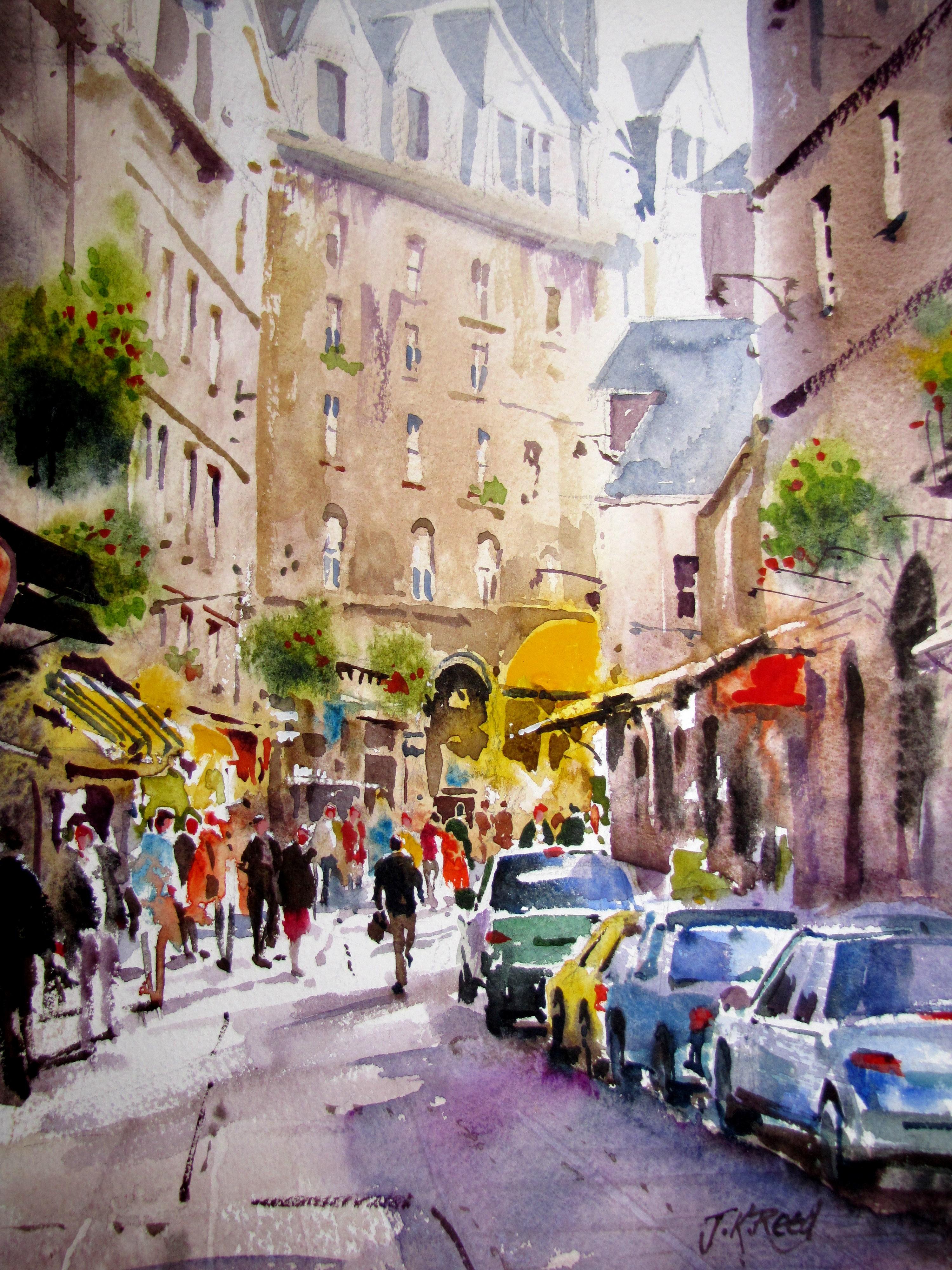 Artworks » Blog Archive » St Malo street scene