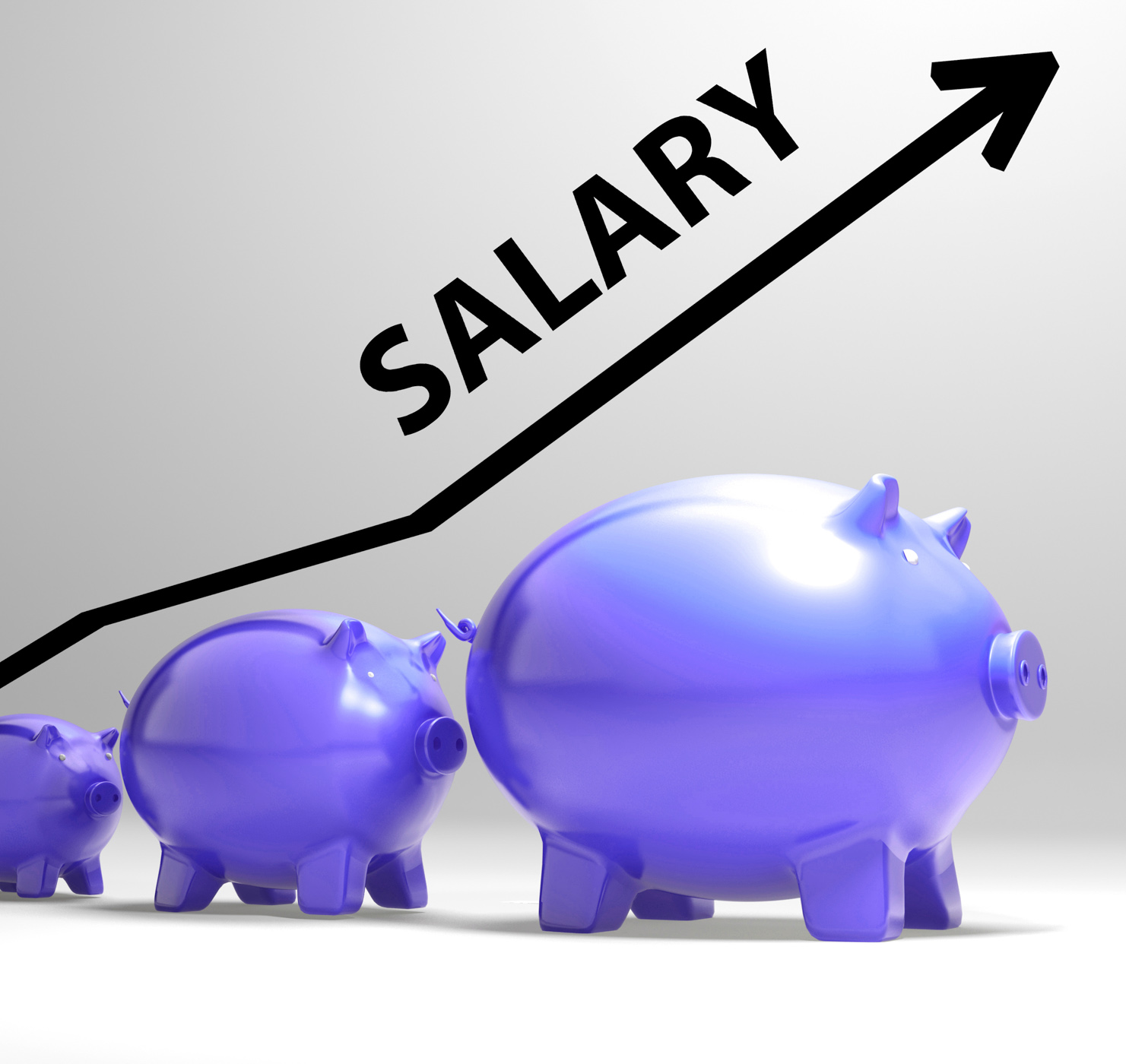Salary arrow shows pay rise for workers photo
