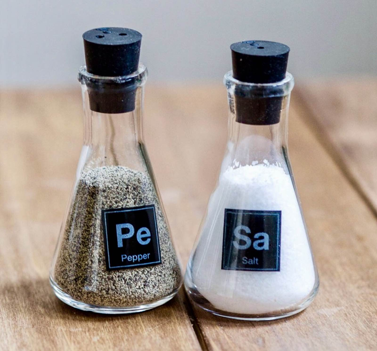 Science Flask Salt & Pepper Shakers — Tools and Toys
