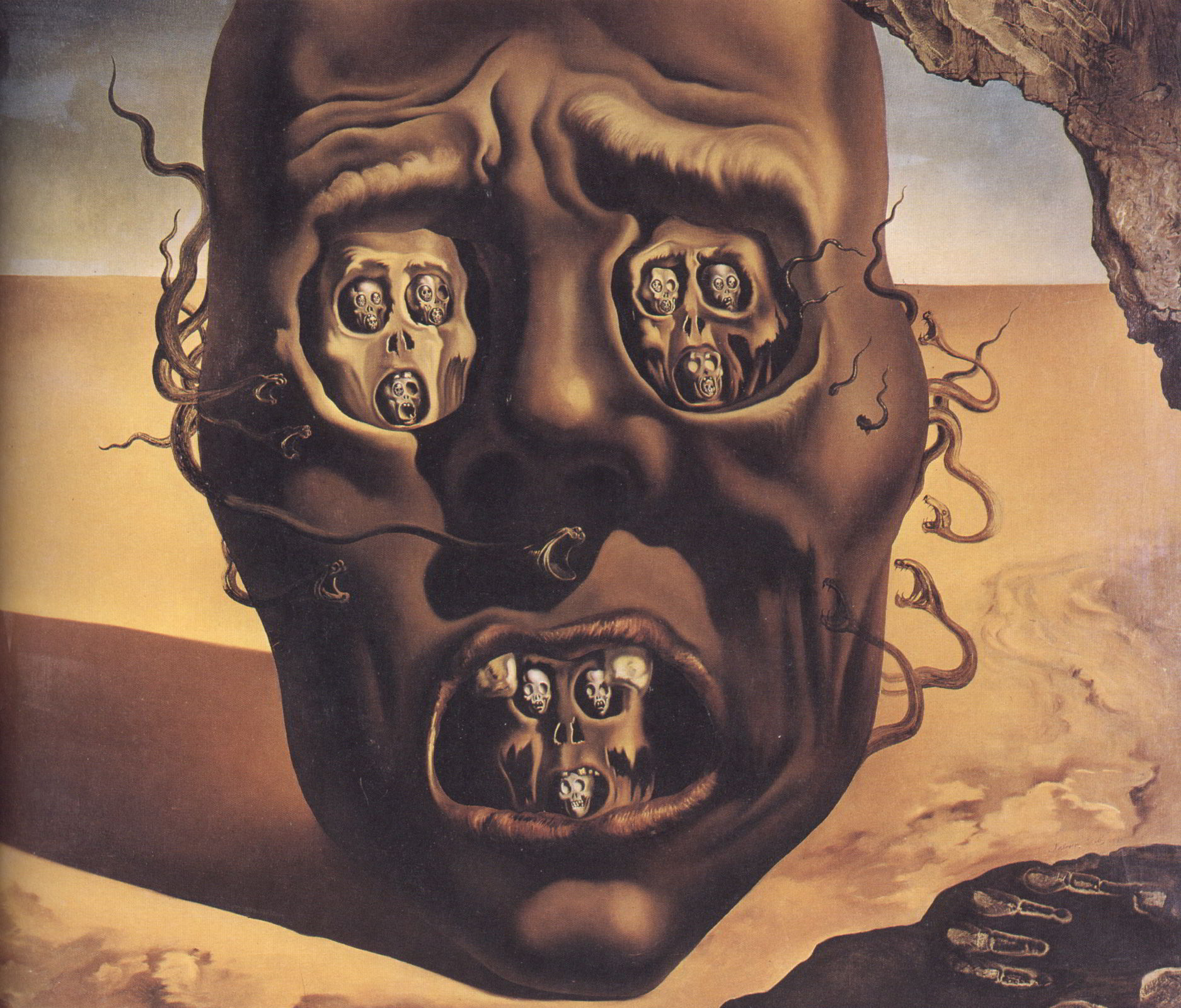 The Face of War by Salvador Dali - ArtPaintingArtist
