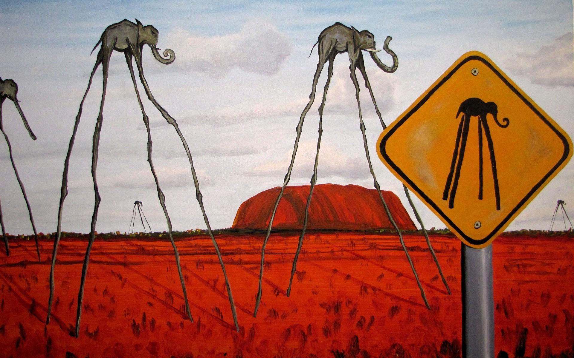 fantasy Art, Surreal, Clouds, Elephants, Signs, Hill, Nature ...