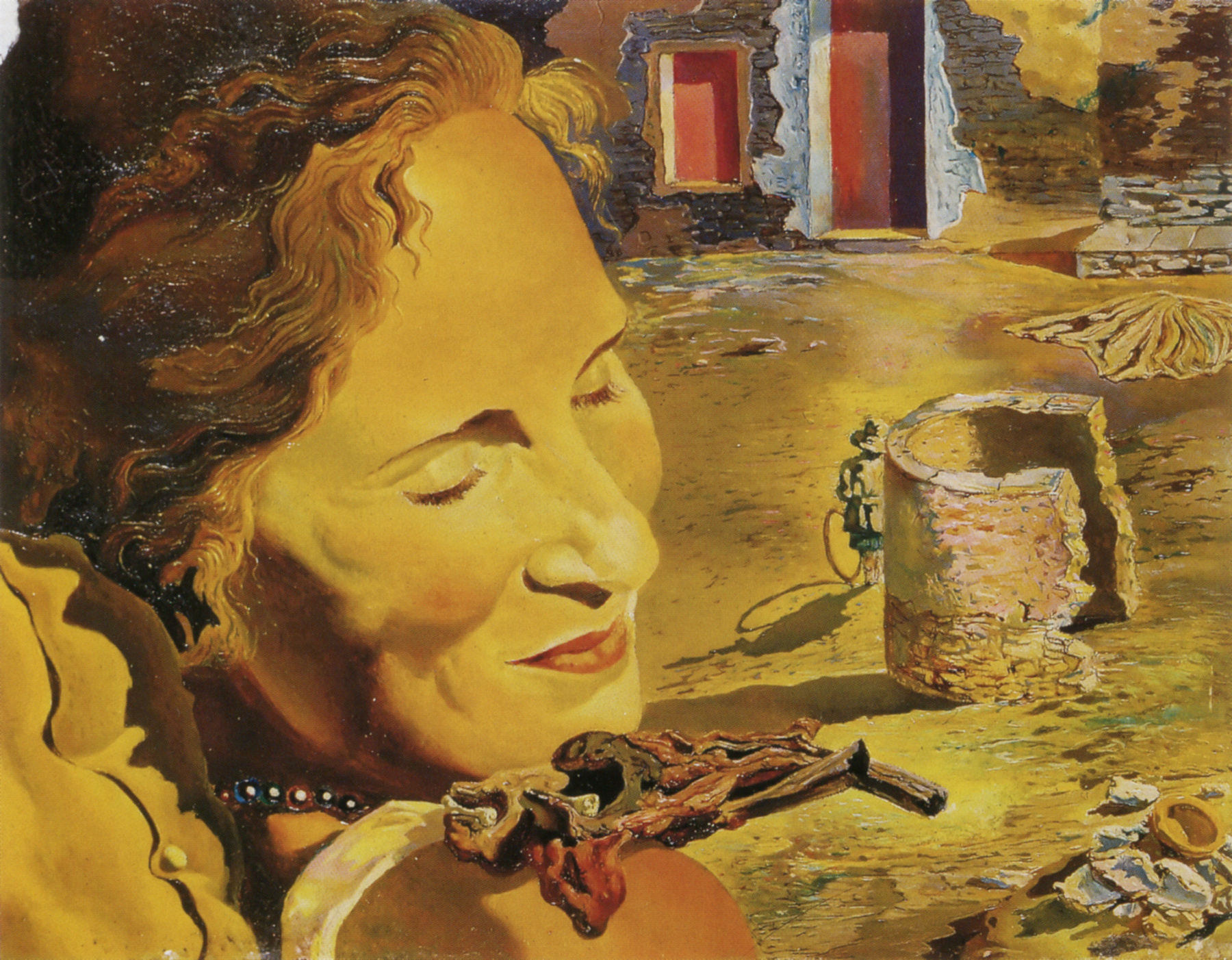 Salvador Dali: Portrait of Gala with Two Lamb Chops Balanced on Her ...