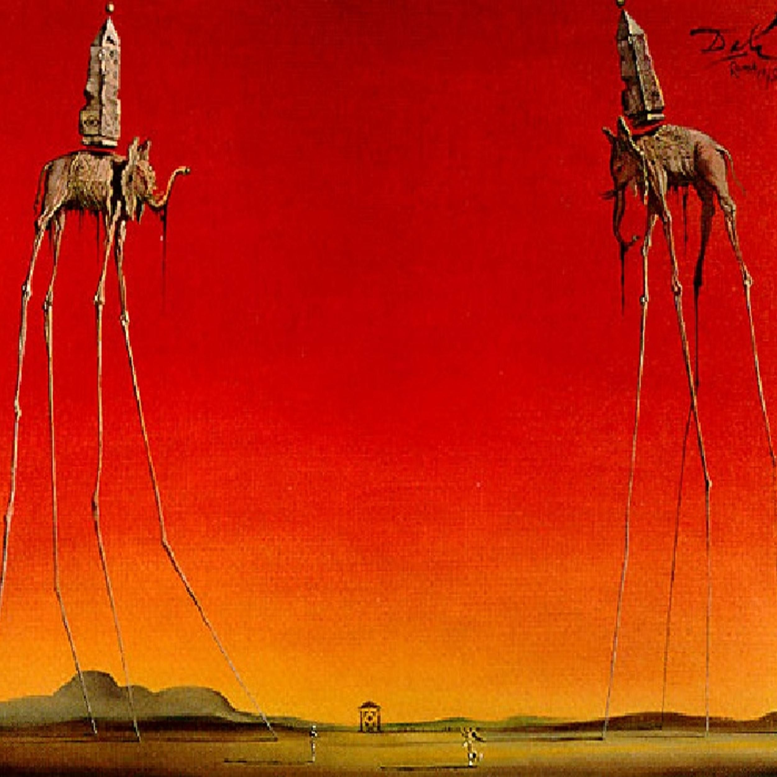 The Elephants is a 1948 painting by the Spanish surrealist artist ...