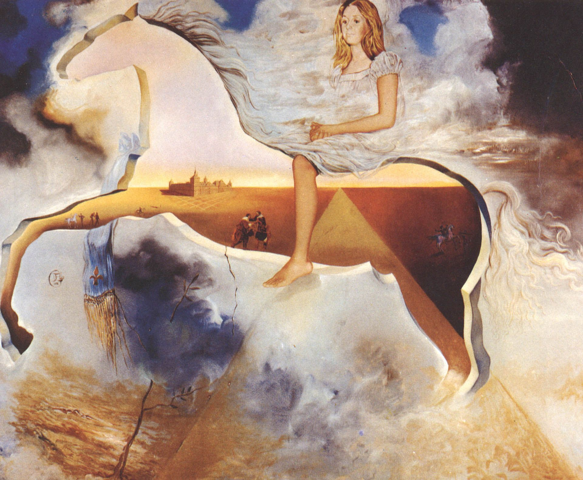 SALVADOR DALI.....PAINTING...EQUESTRIAN PORTRAIT OF CARMEN BORDIU ...