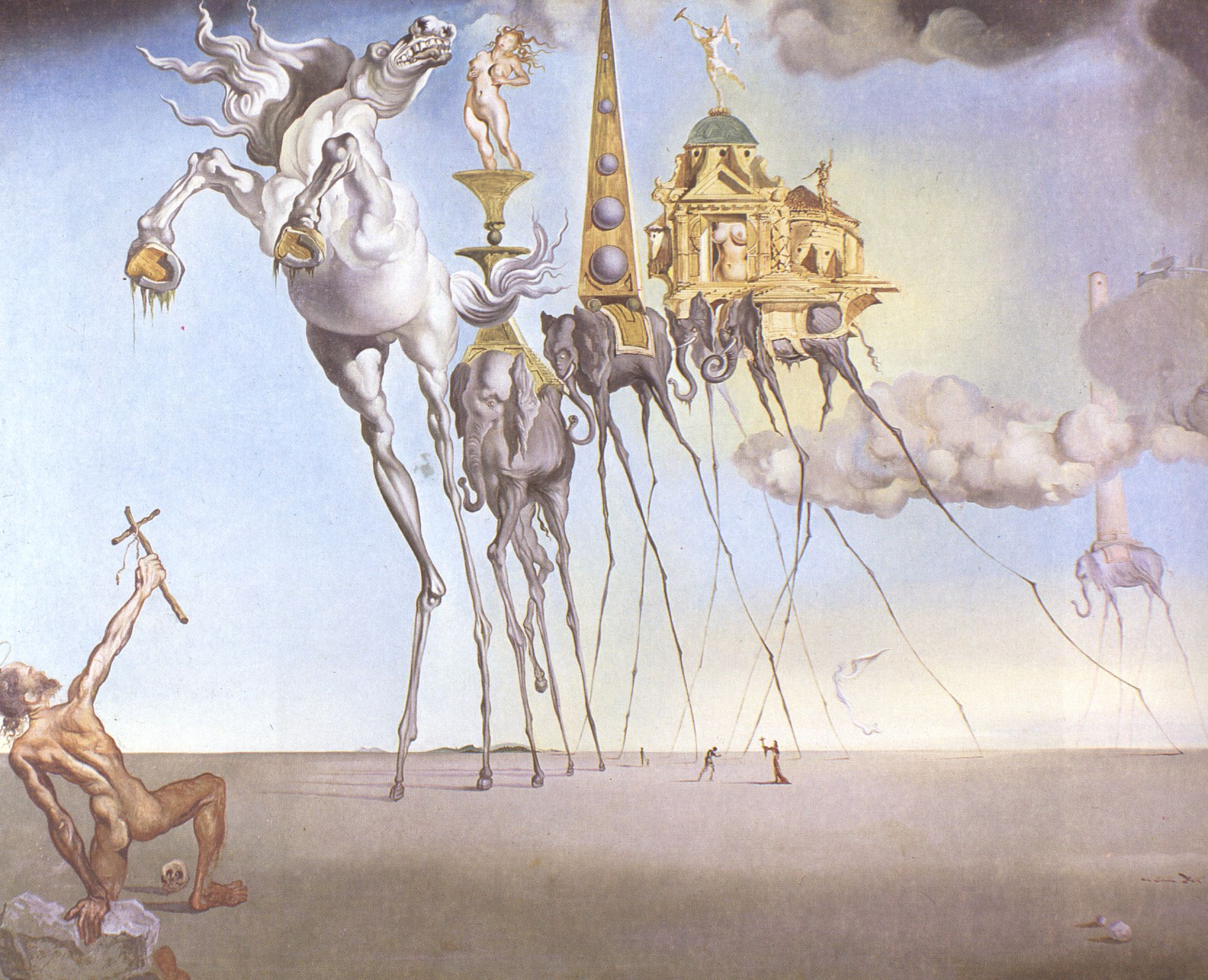 Salvador Dali, art, painting, surrealism, 1940s, 1946, The ...