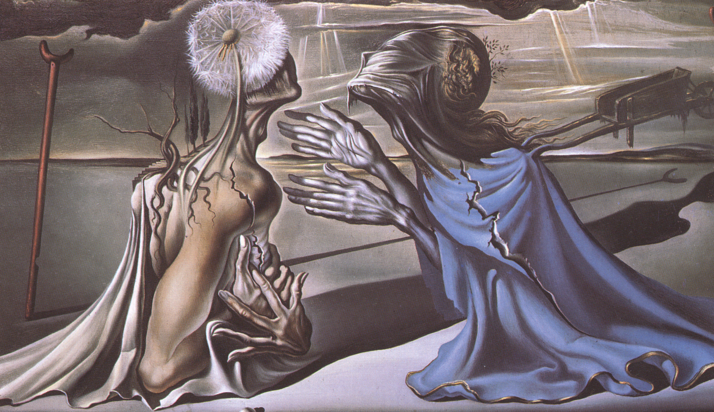Salvador Dali Painting, Androgen, Relationship, Lover, Male, HQ Photo