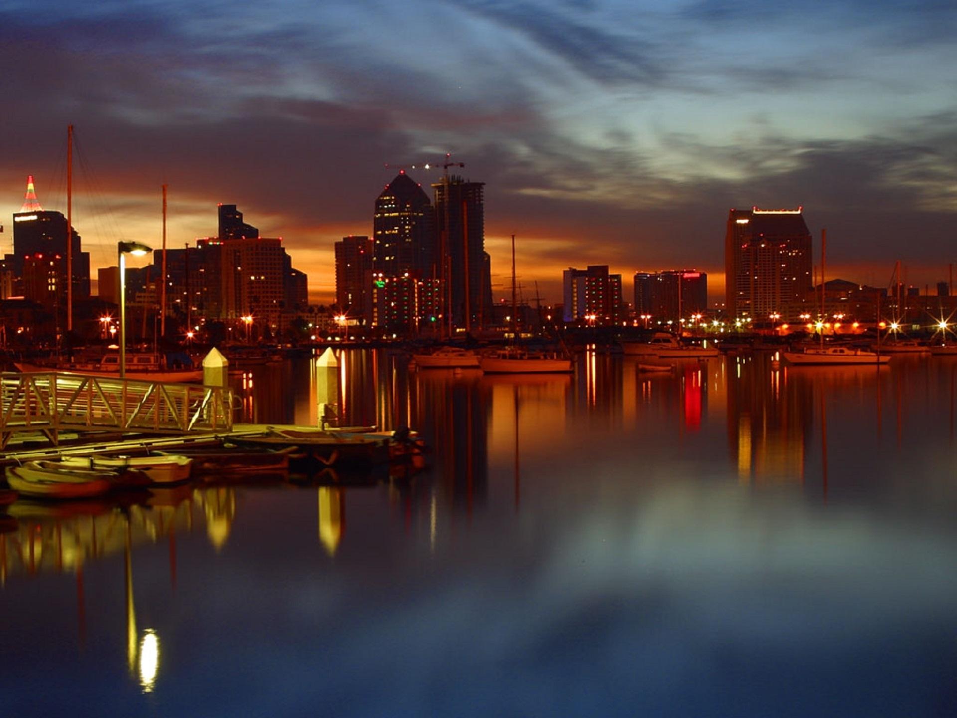 San Diego Bay, Architecture, Bay, Boat, City, HQ Photo