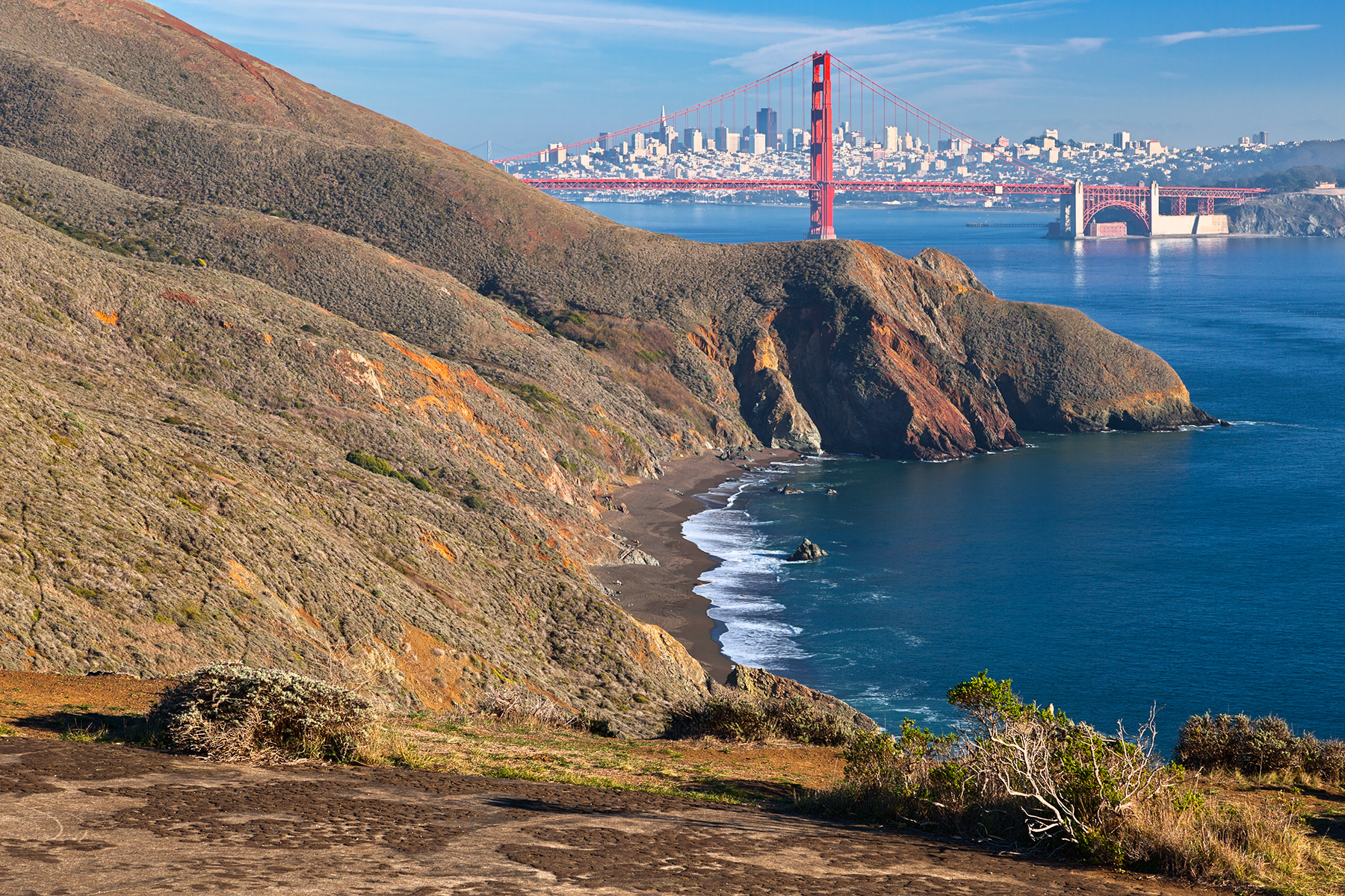 San francisco & golden gate - hdr photo