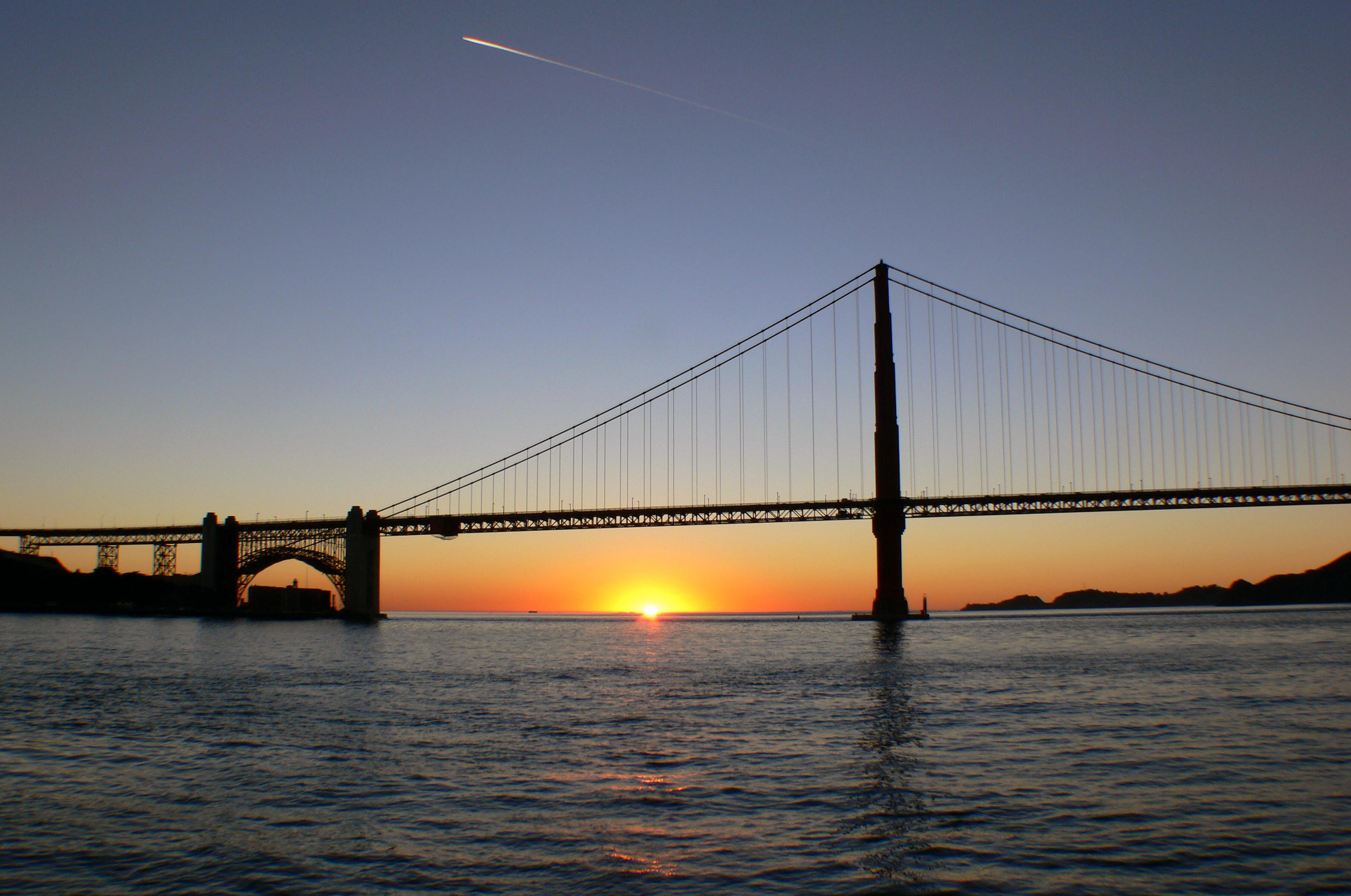 San Francisco Bay (21), Bay, Bridge, Dusk, Free photos, HQ Photo