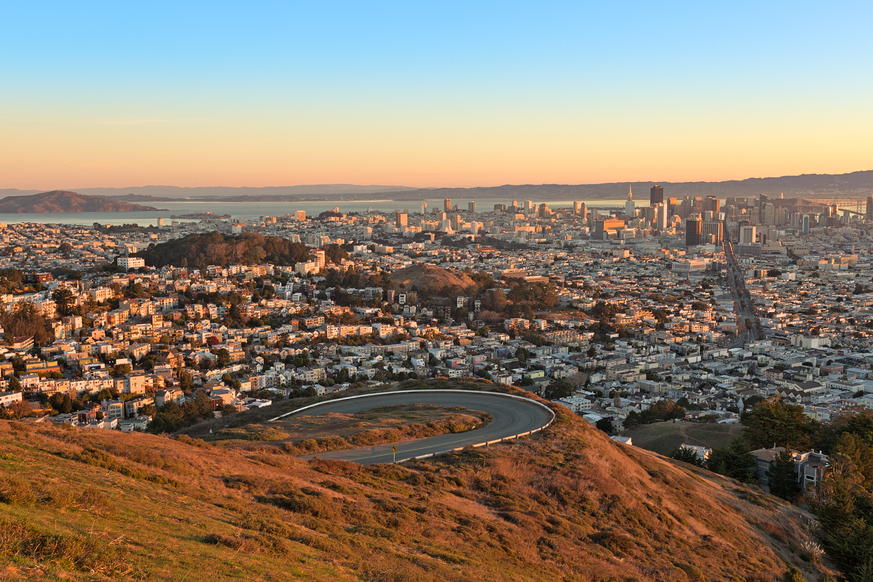 San Francisco Sunrise - HDR, America, Rise, Shadows, Shadow, HQ Photo