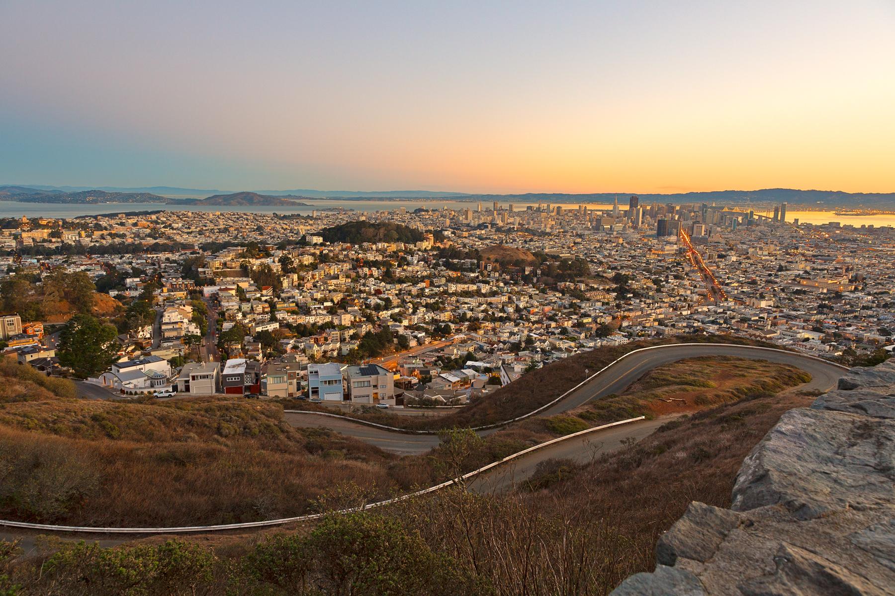 San francisco sunrise - hdr photo