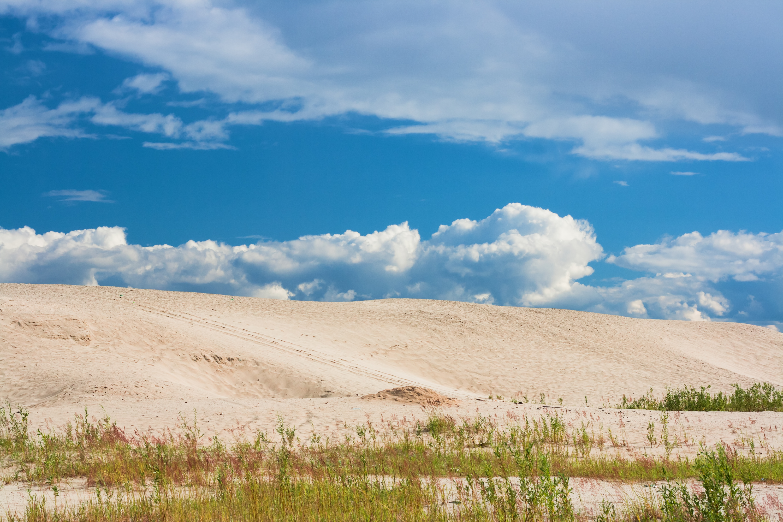 Sand and blue sky photo