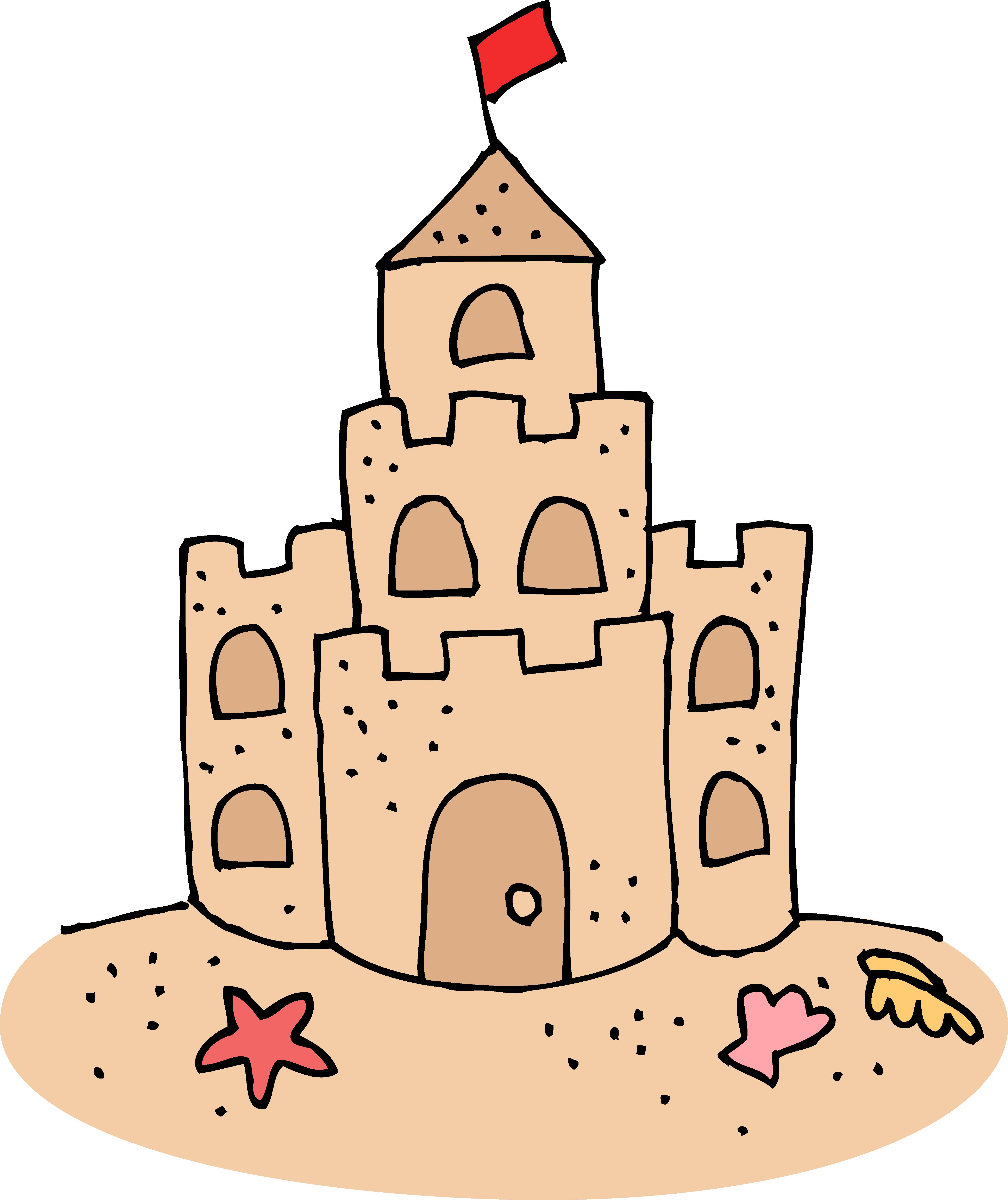 Sand castle silhouette photo