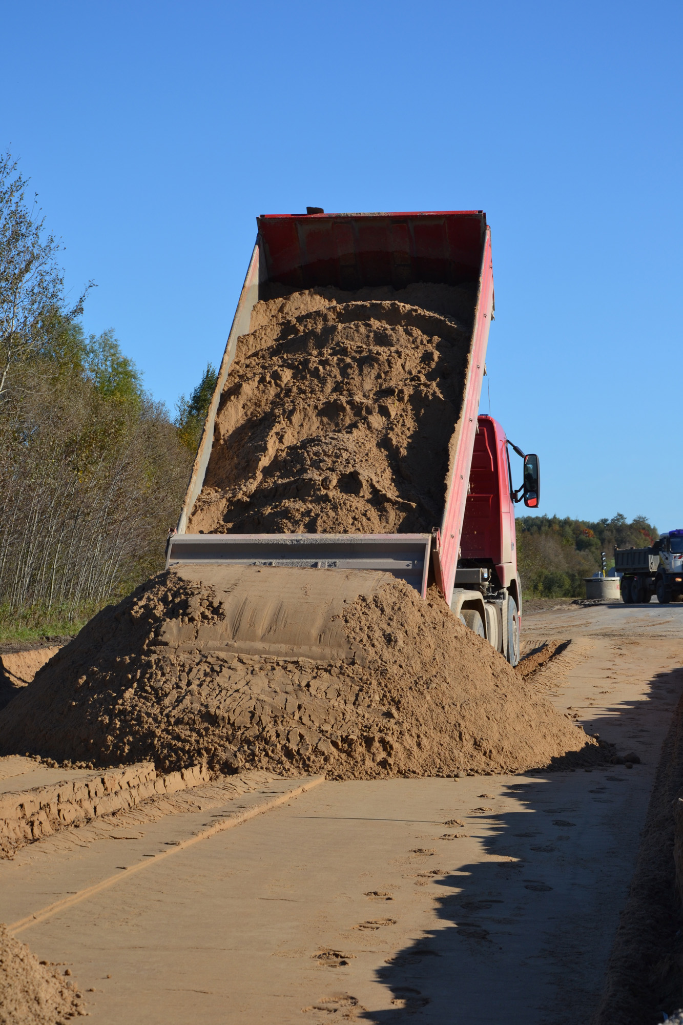 Sand pile and truck photo