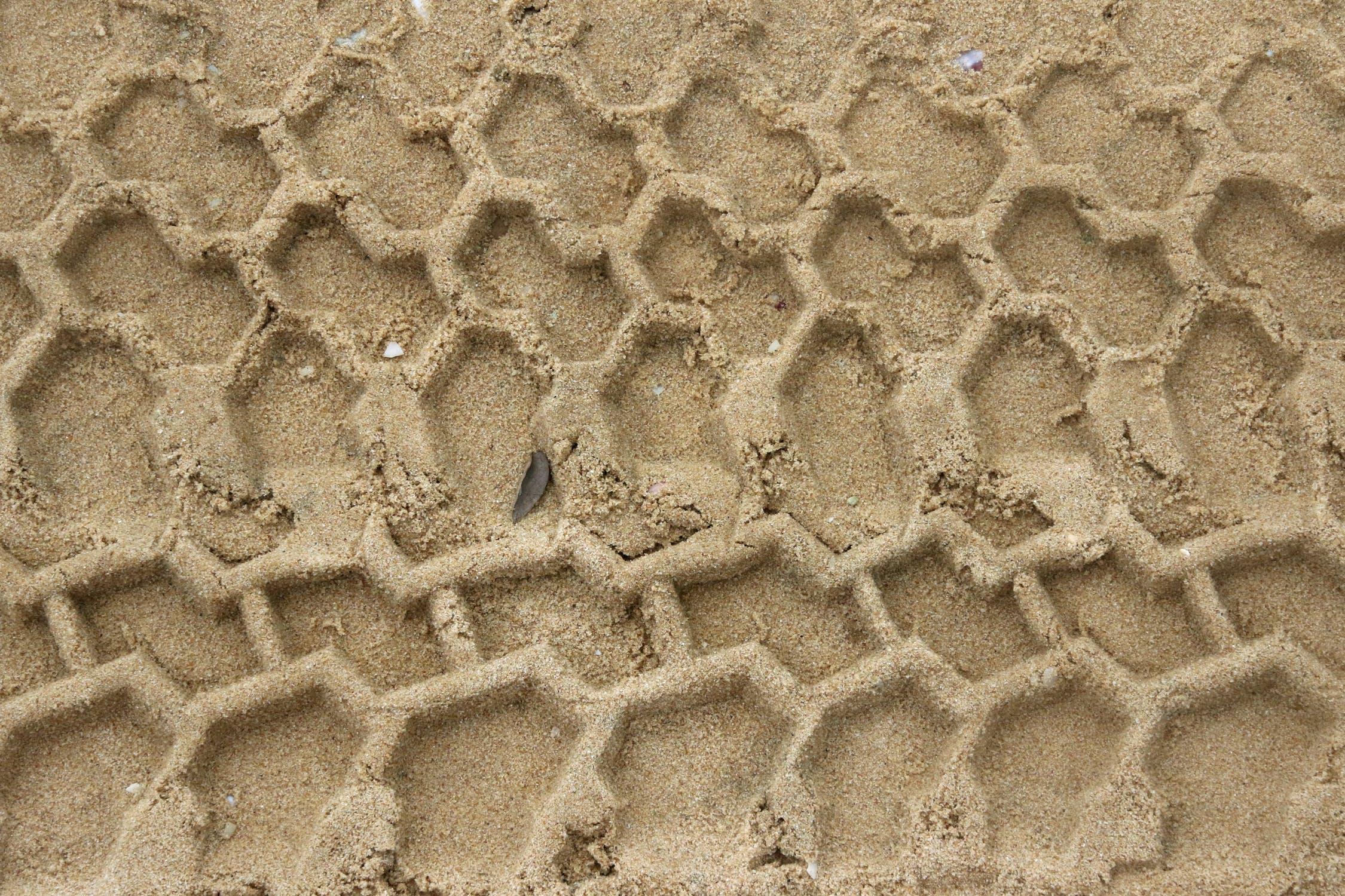 Sand tire track photo