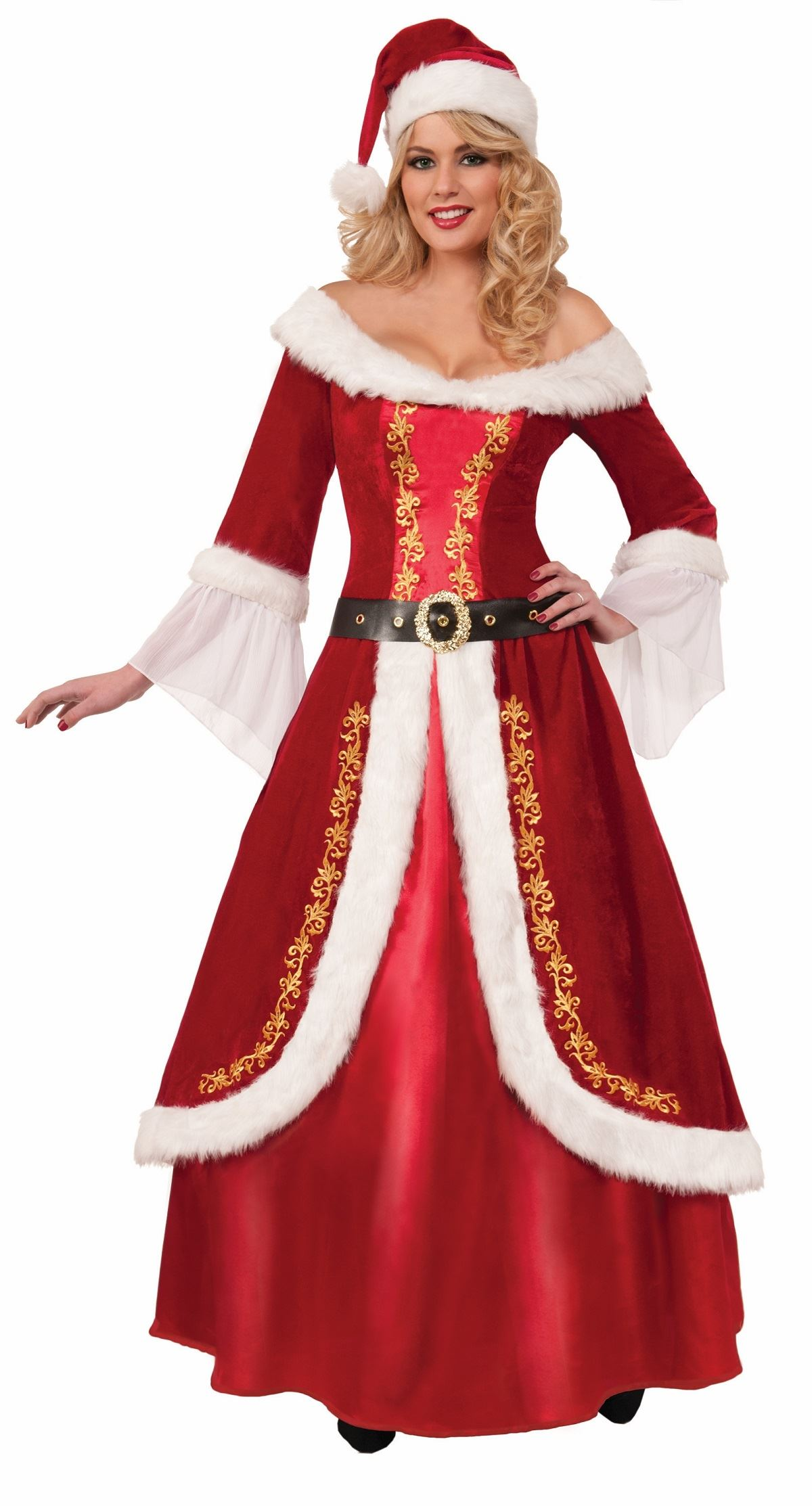 Adult Santa Mrs Claus Deluxe Woman Christmas Costume | $125.99 | The ...