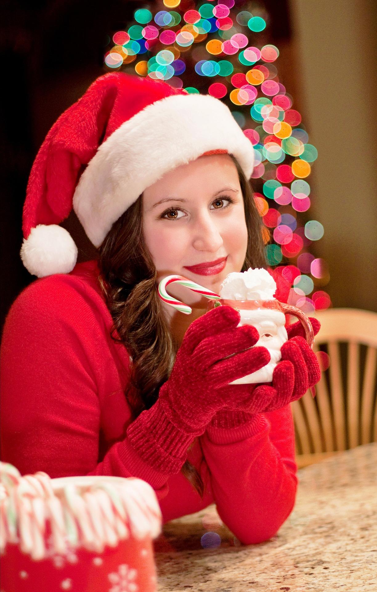 Santa Woman, Christmas, Christmastree, Claus, Lady, HQ Photo