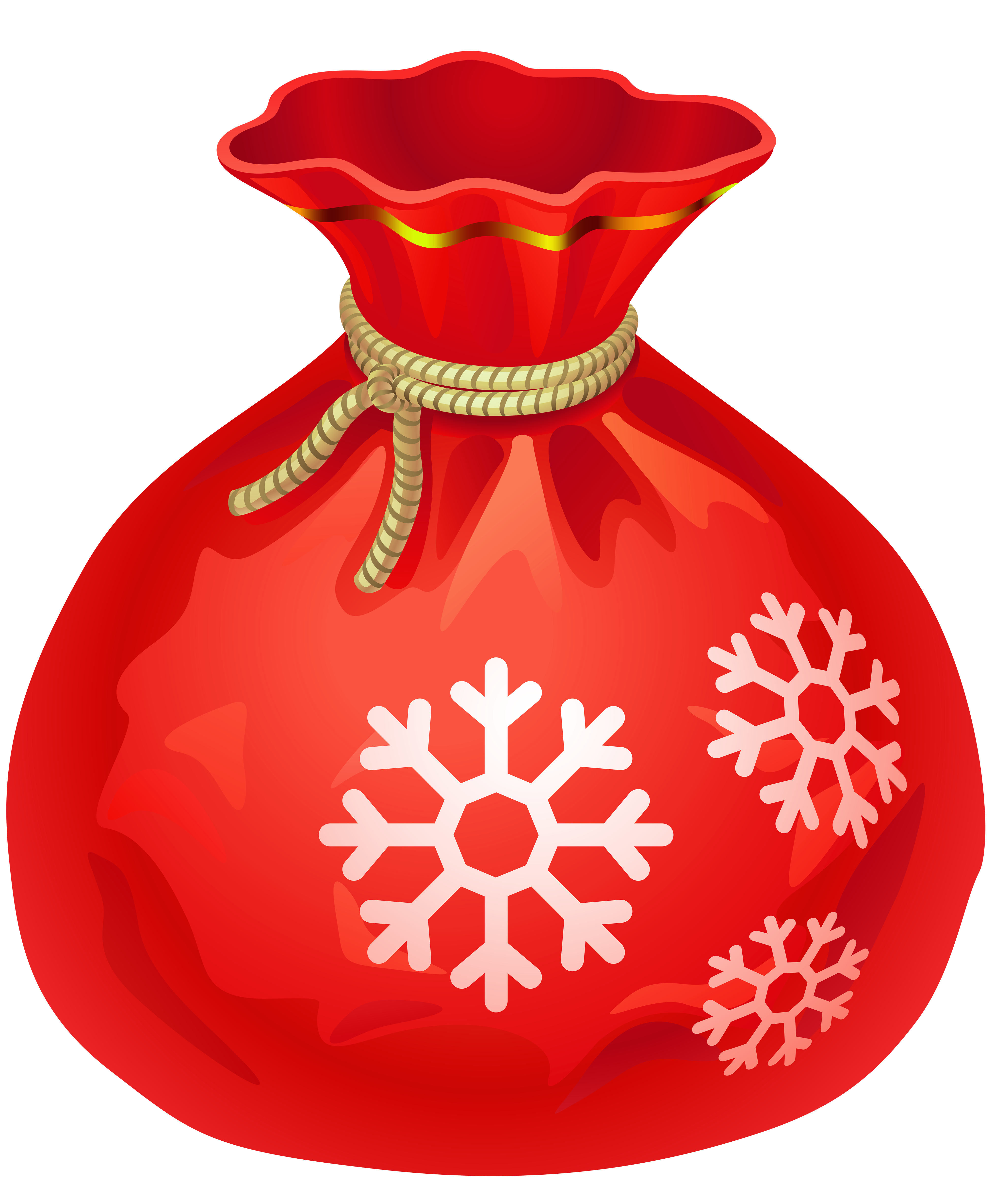 Transparent Christmas Red Santa Bag PNG Clipart | Gallery ...