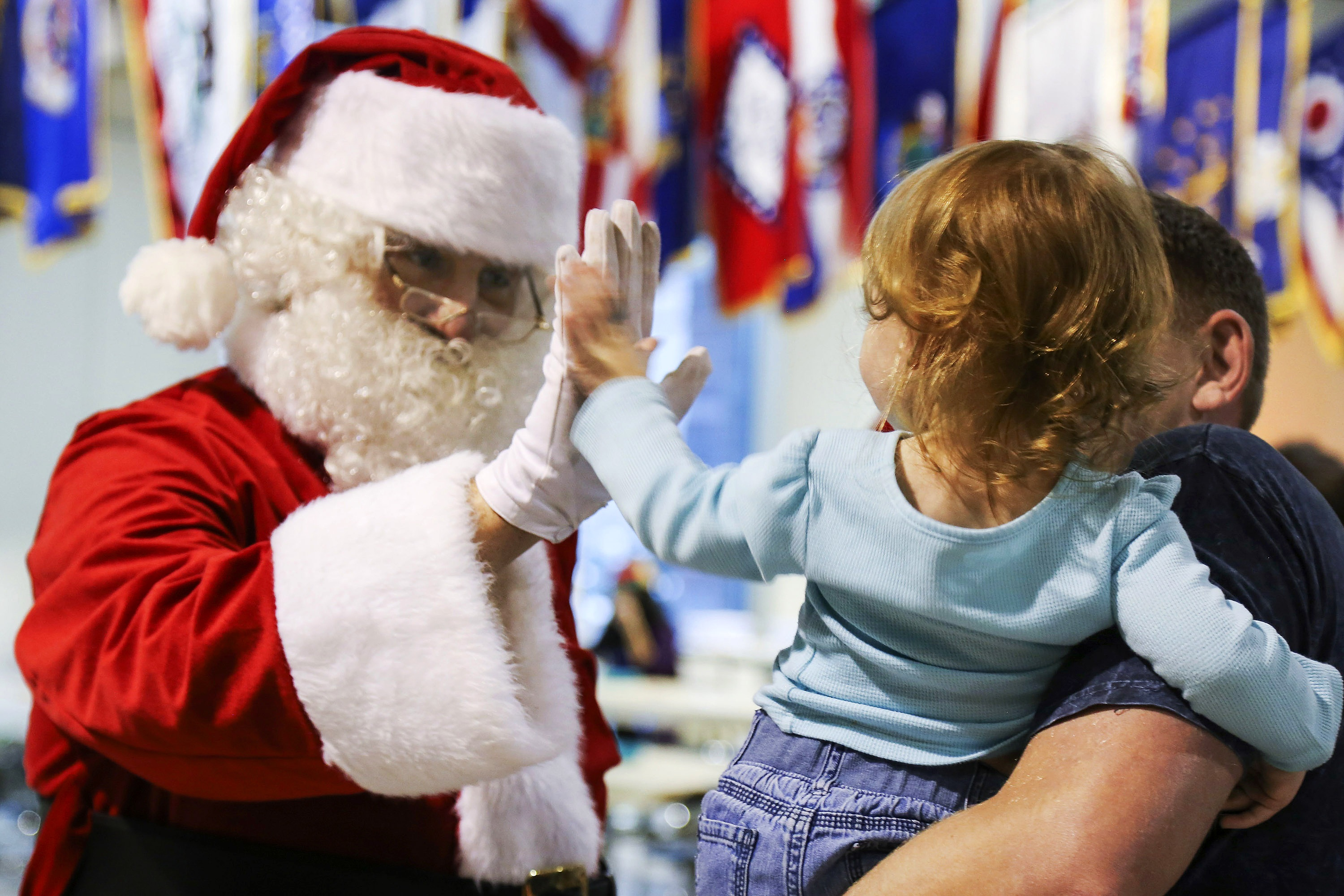 Santa's High Five, Christmas, Claus, People, Santa, HQ Photo