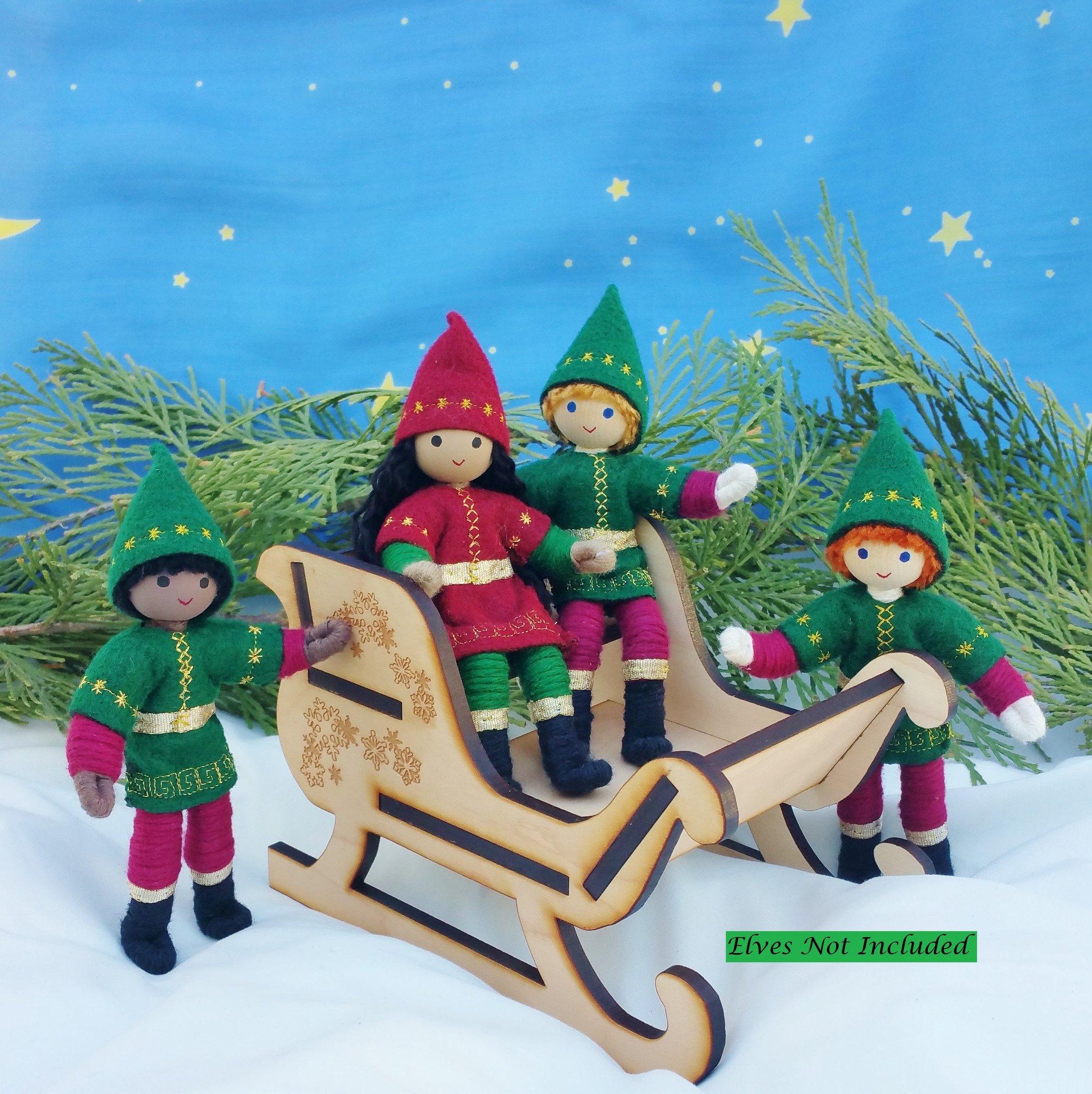 Miniatre Wooden Sleigh   Wildflower Toys ™