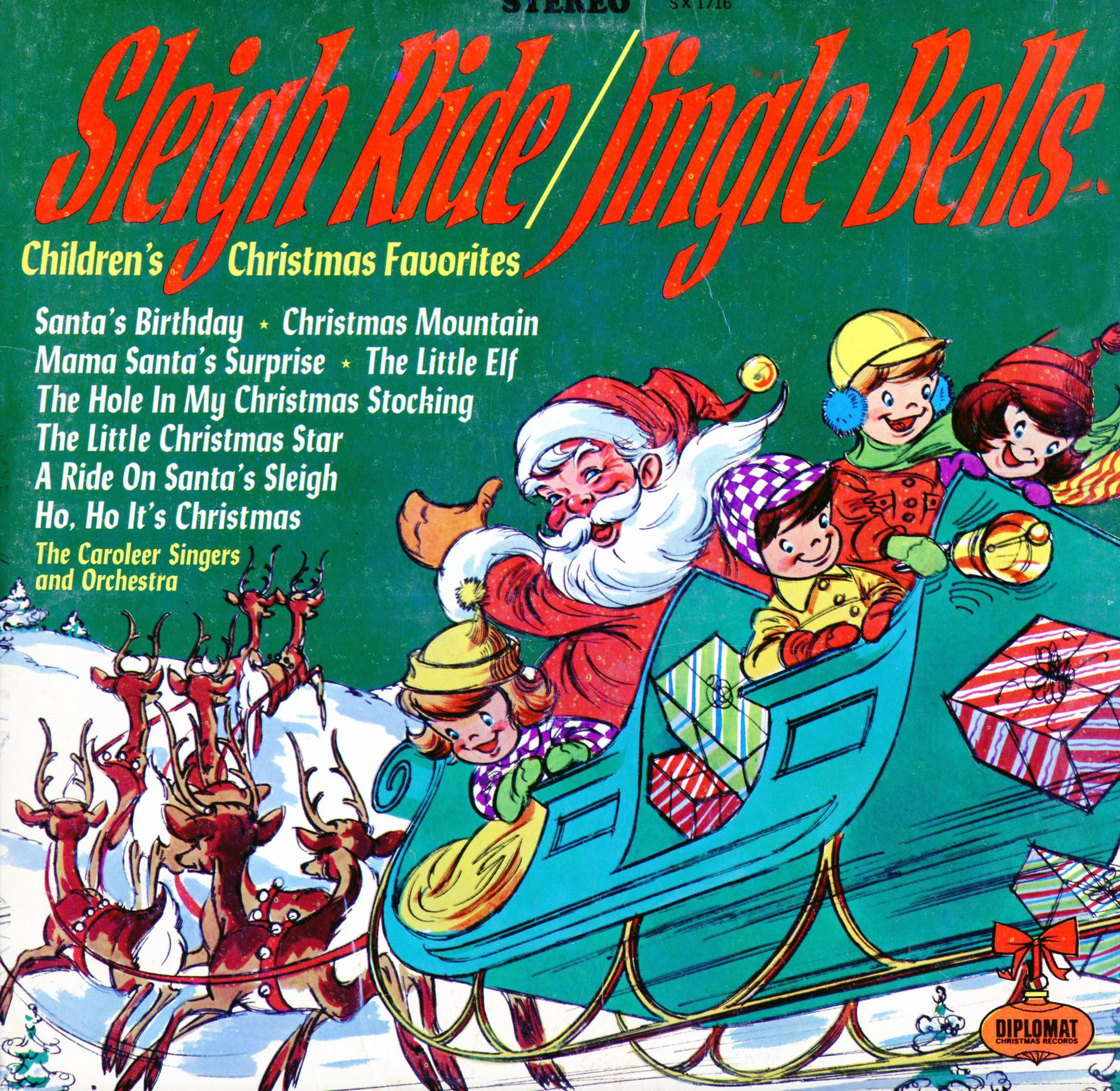 Sleigh Ride/ Jingle Bells album Caroleer Singers and Orchestra with ...