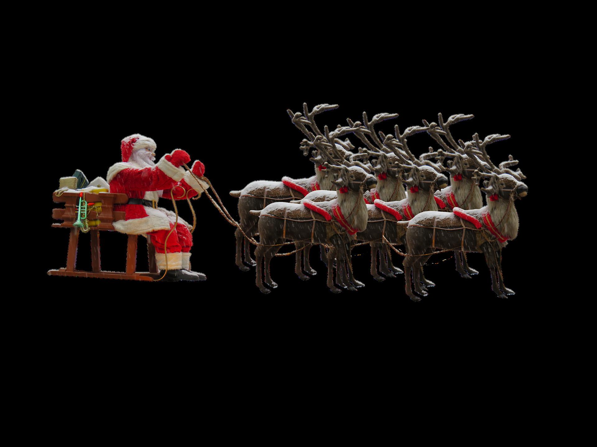 Santa's Ride, Christmas, Claus, Fig, Figure, HQ Photo
