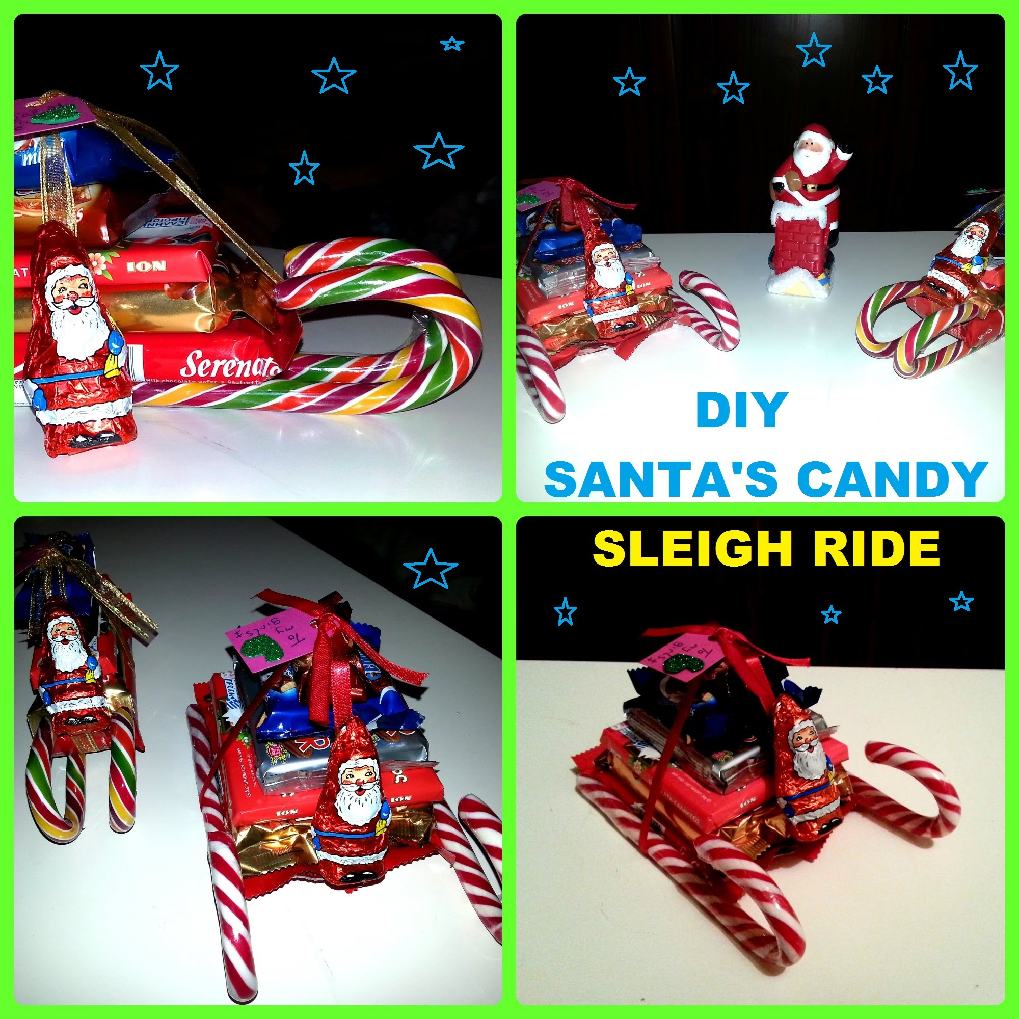 DIY: HOW TO MAKE SANTA'S CANDY SLEIGH RIDE - YouTube