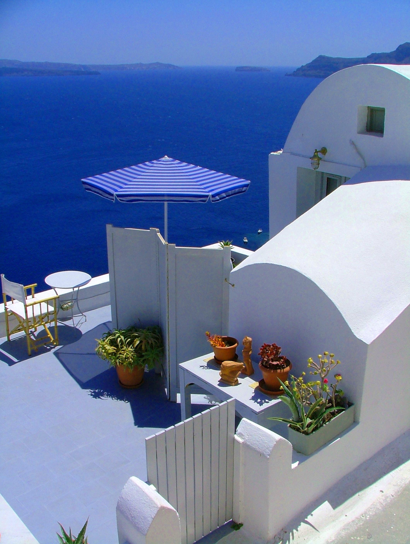 Santorini, Greece, House, Landscape, Porch, HQ Photo