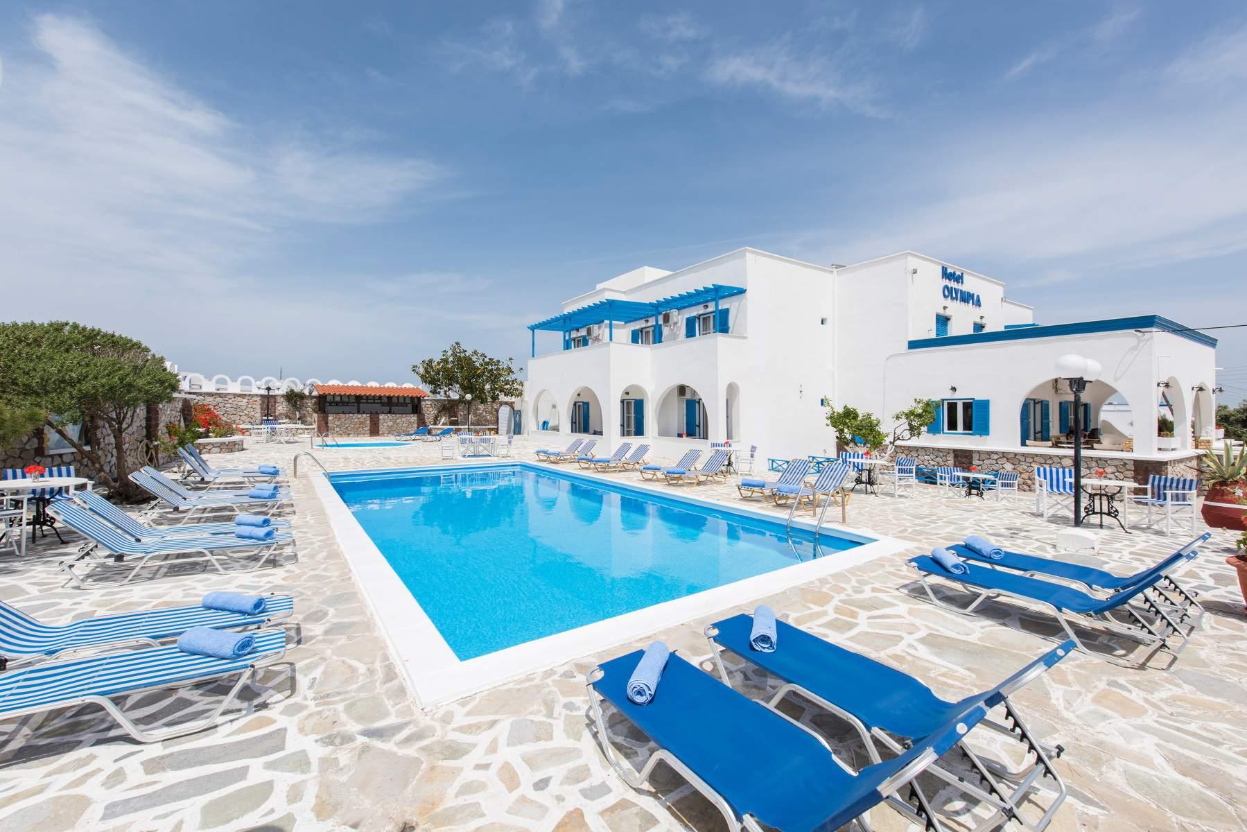 Hotel Olympia in Karterados Santorini Greece