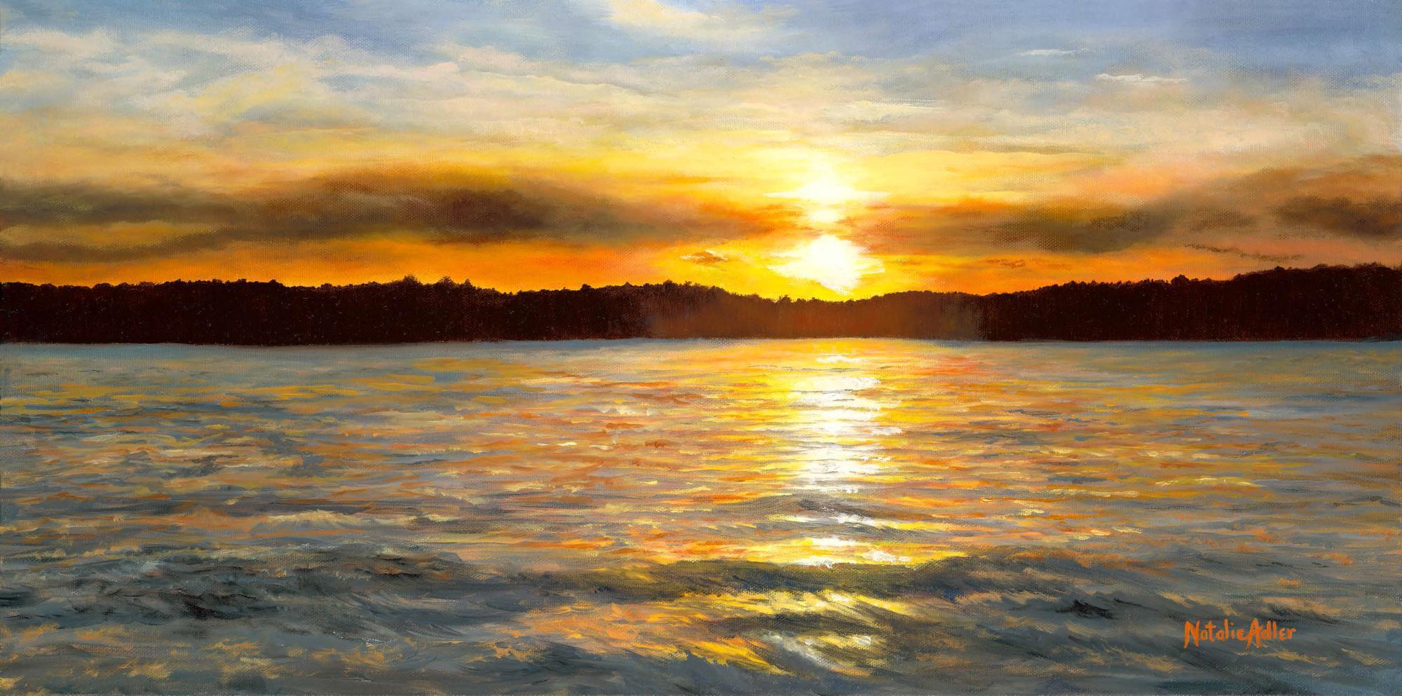 Saratoga lake sunset photo