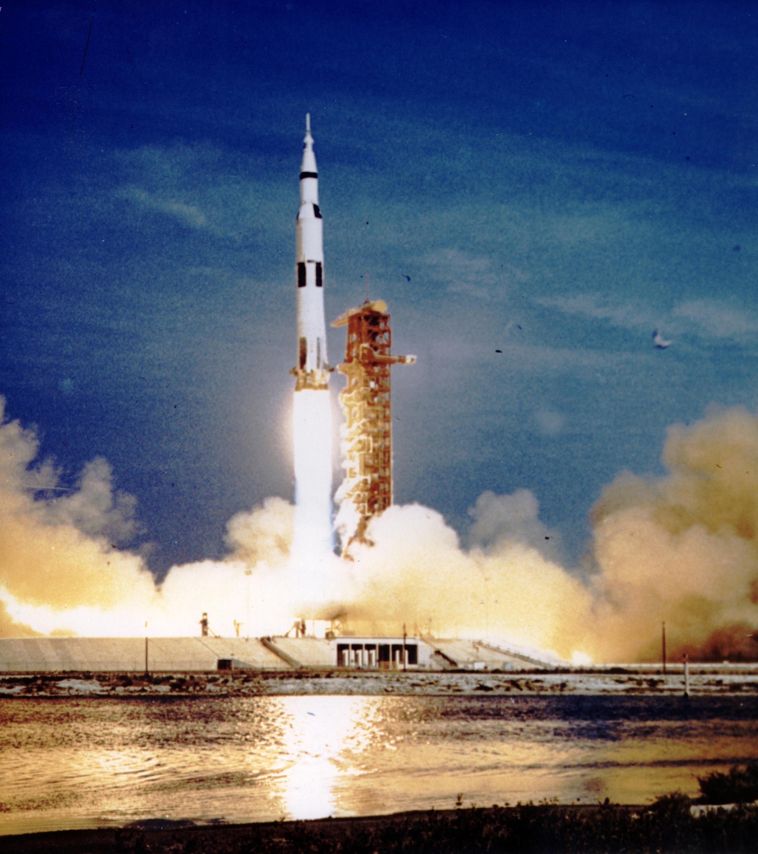 8909250 - Apollo 11 Launched Via Saturn V Rocket